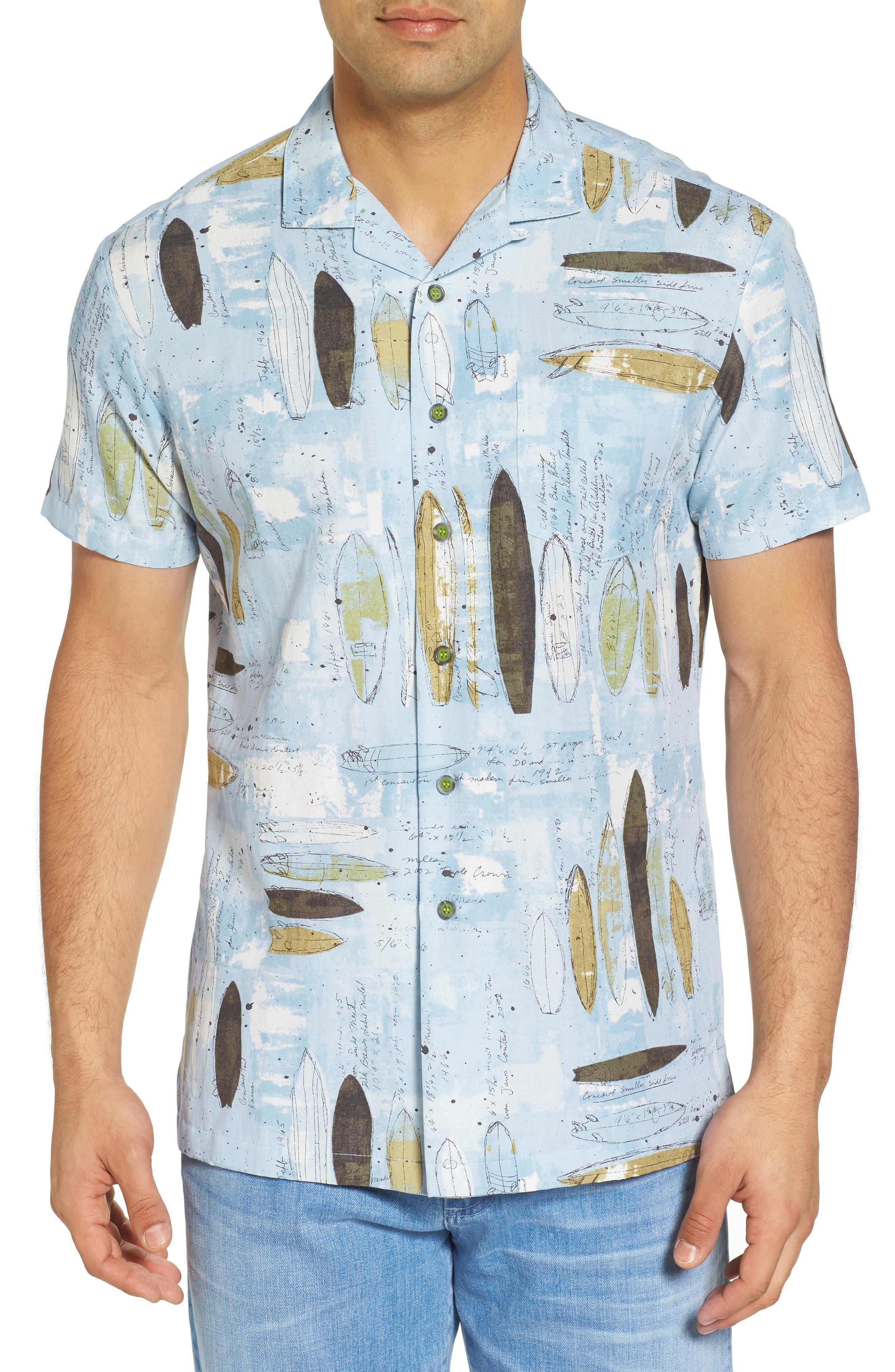 Shaping Room Regular Fit Camp Shirt,                         Main,                         color, Surf