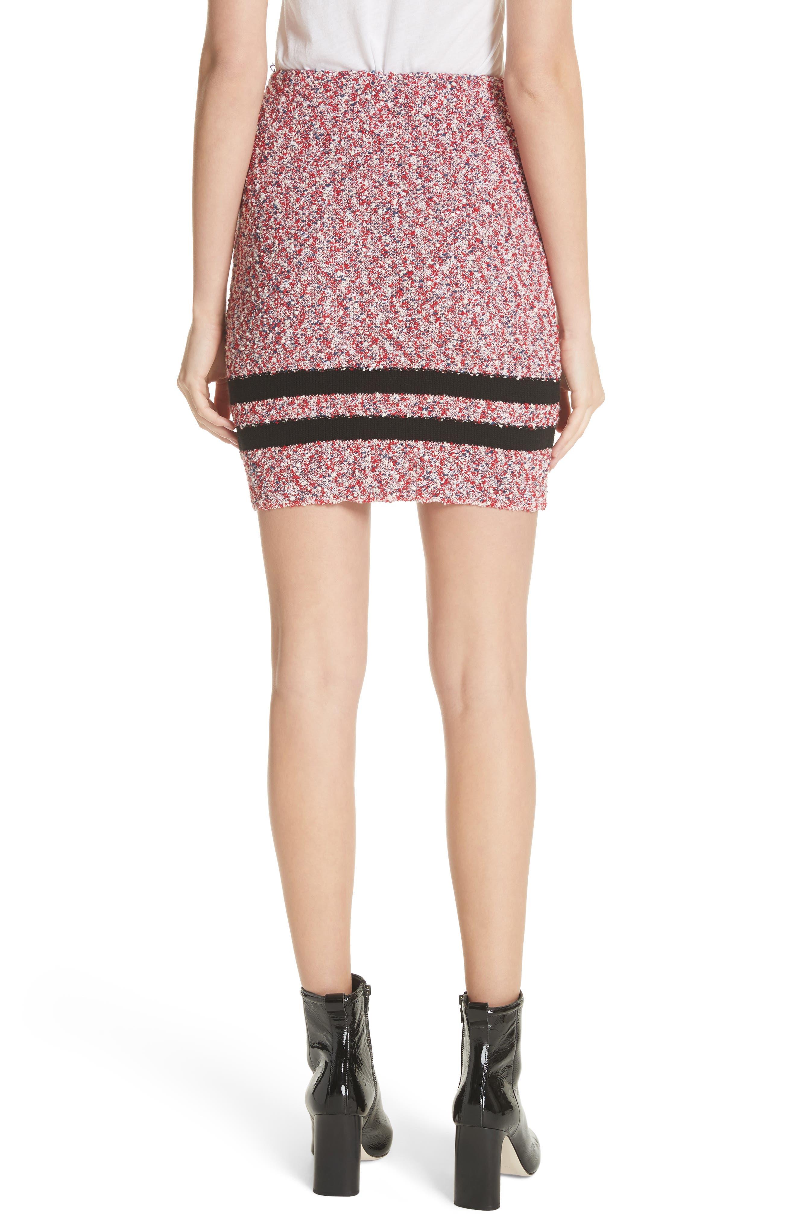 Halstead Tweed Skirt,                             Alternate thumbnail 2, color,                             Red