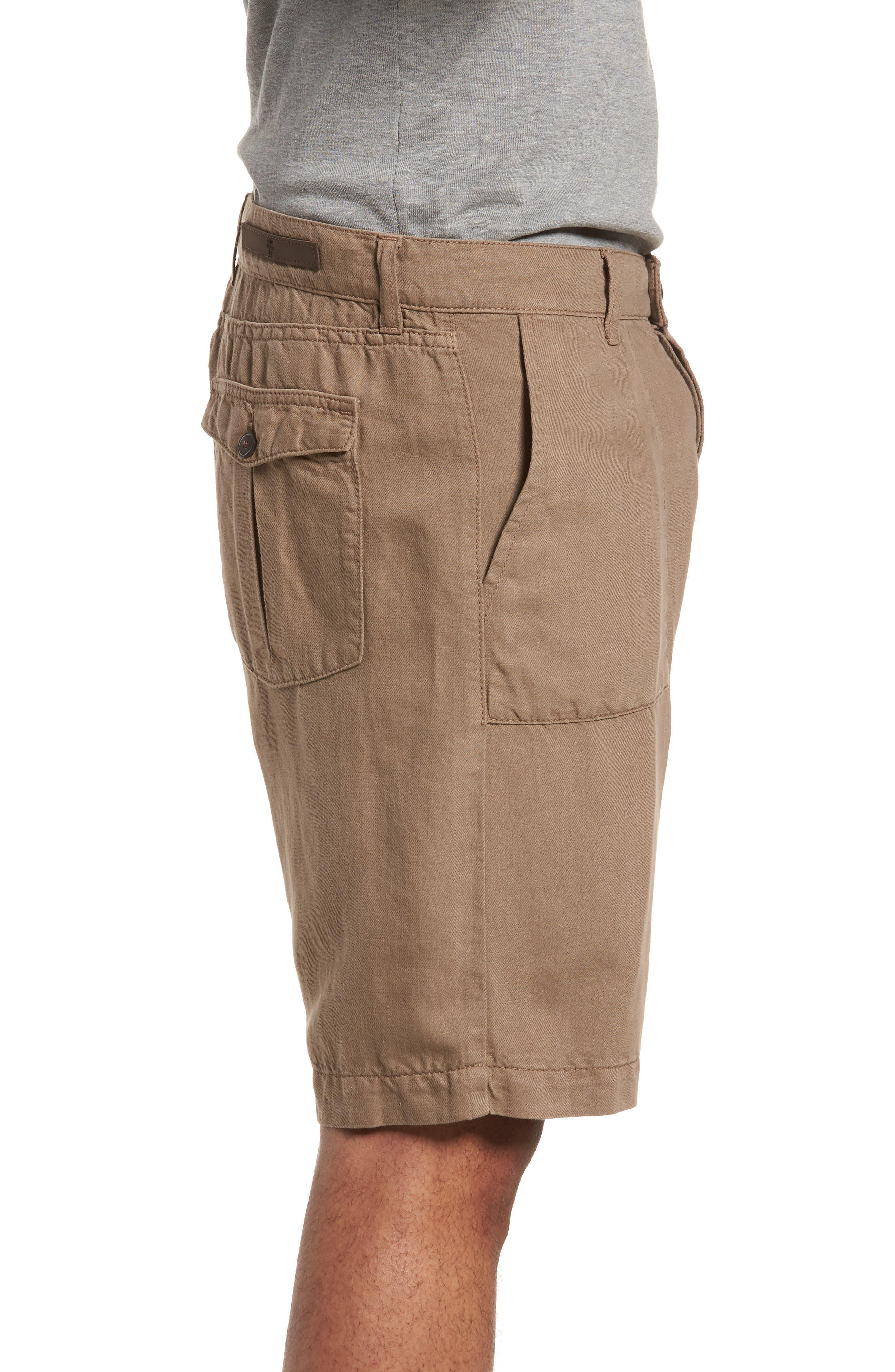 Fatique Bermuda Shorts,                             Alternate thumbnail 3, color,                             Taupe