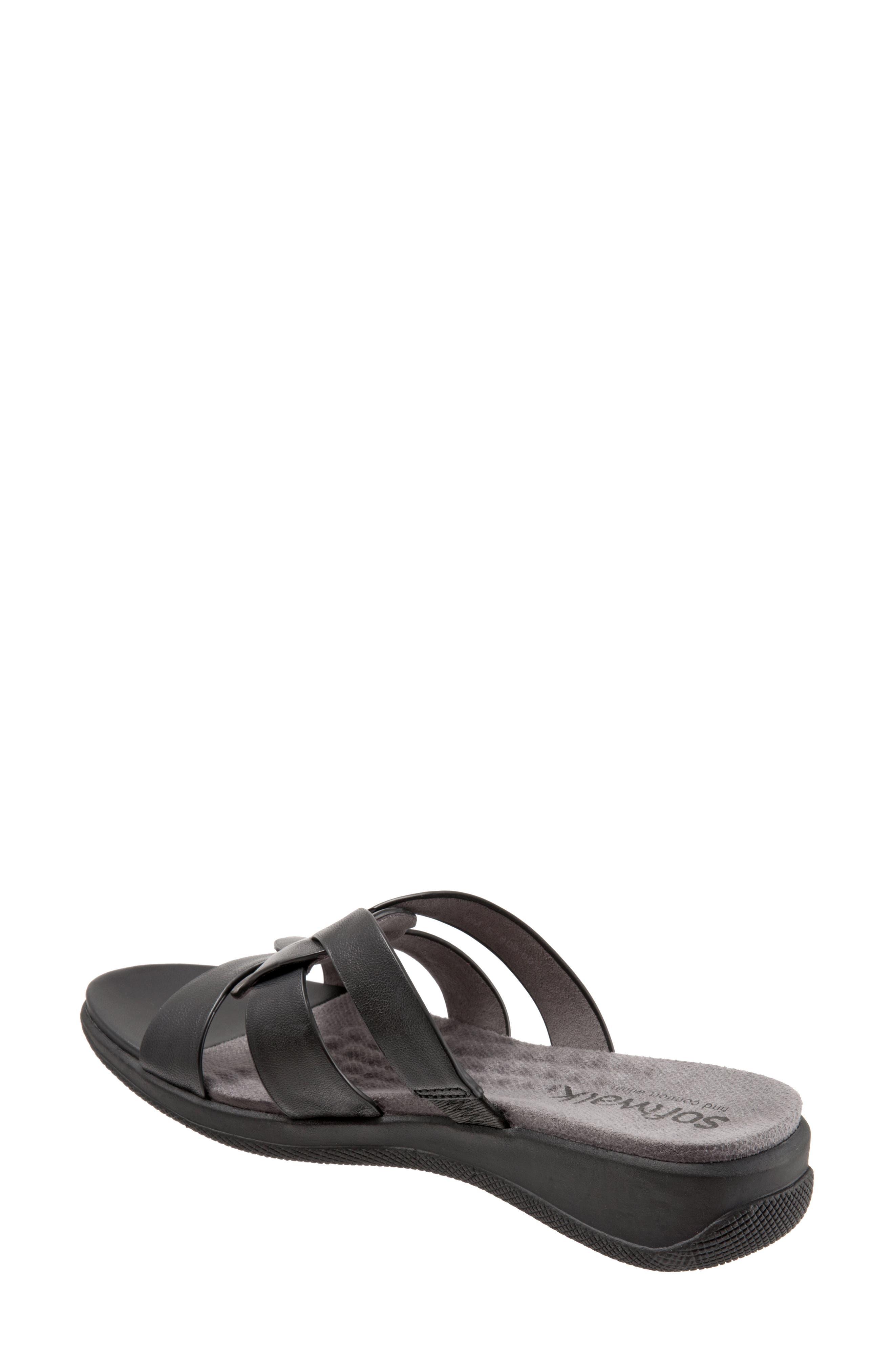 Thompson Slide Sandal,                             Alternate thumbnail 2, color,                             Black Leather