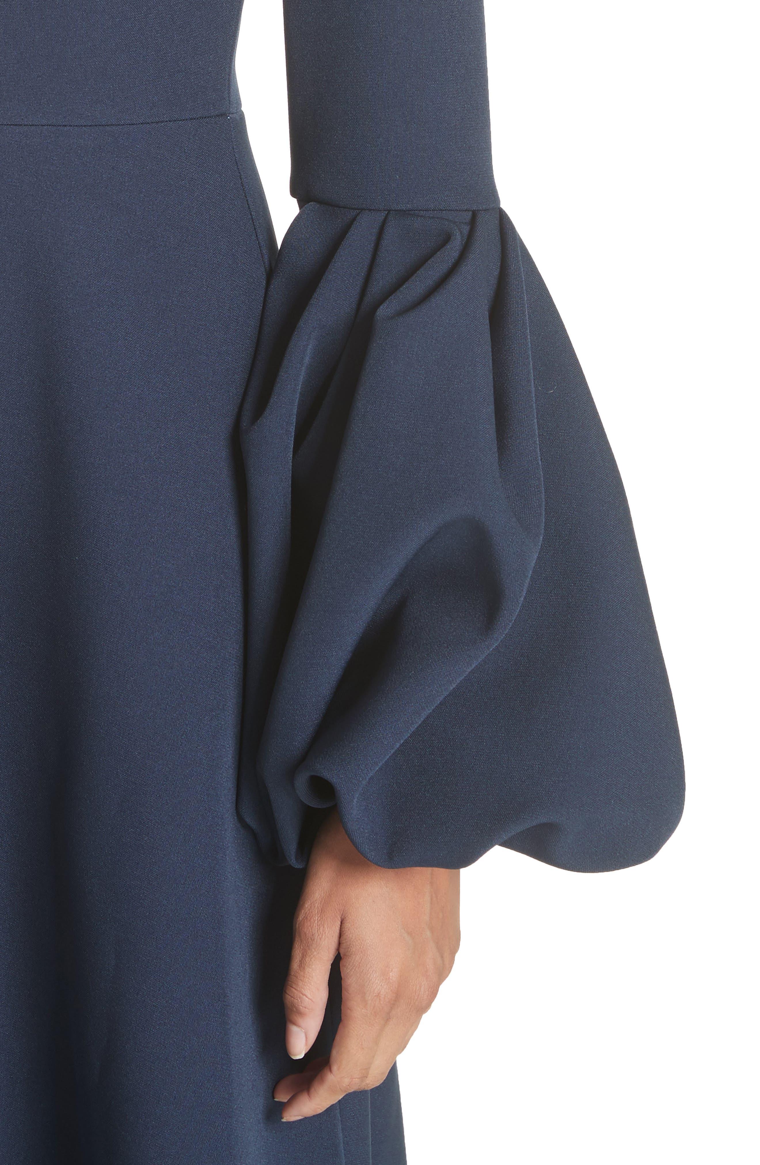 Aylin Bell Sleeve Dress,                             Alternate thumbnail 4, color,                             Squid Ink