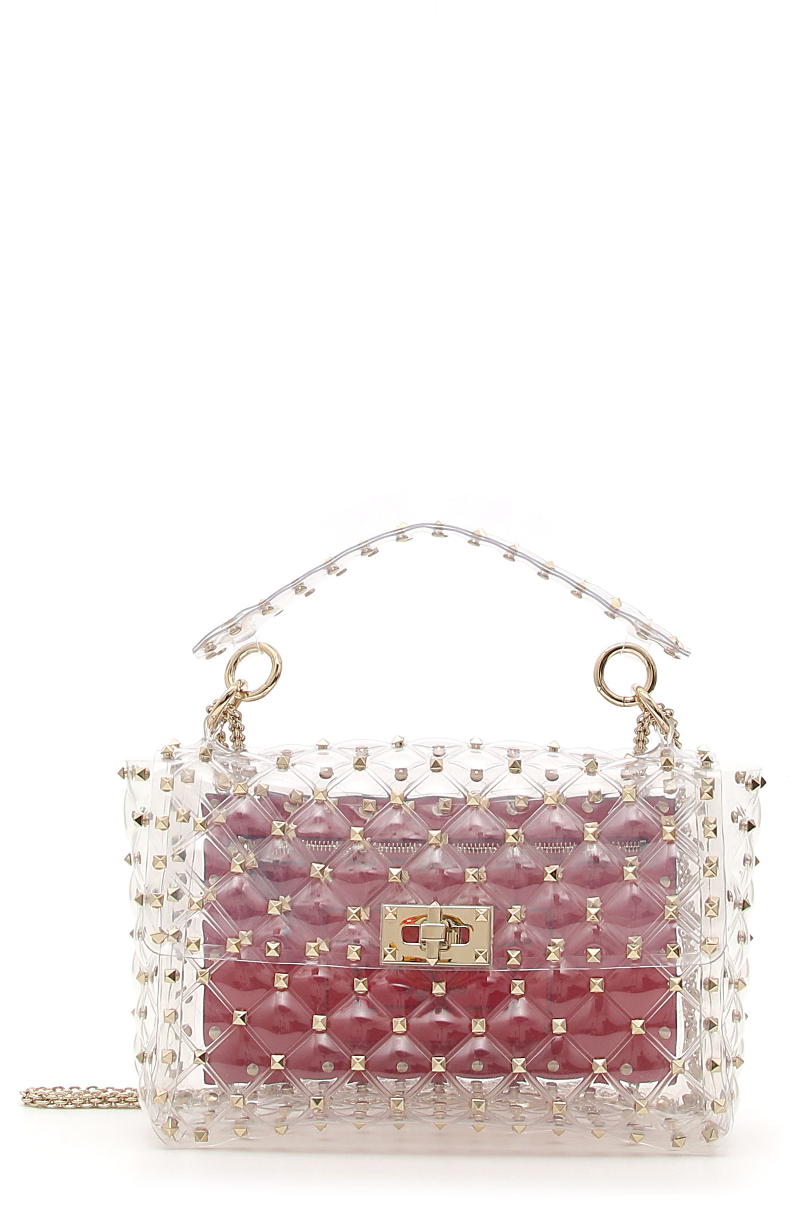 VALENTINO GARAVANI Rockstud Transparent Shoulder Bag