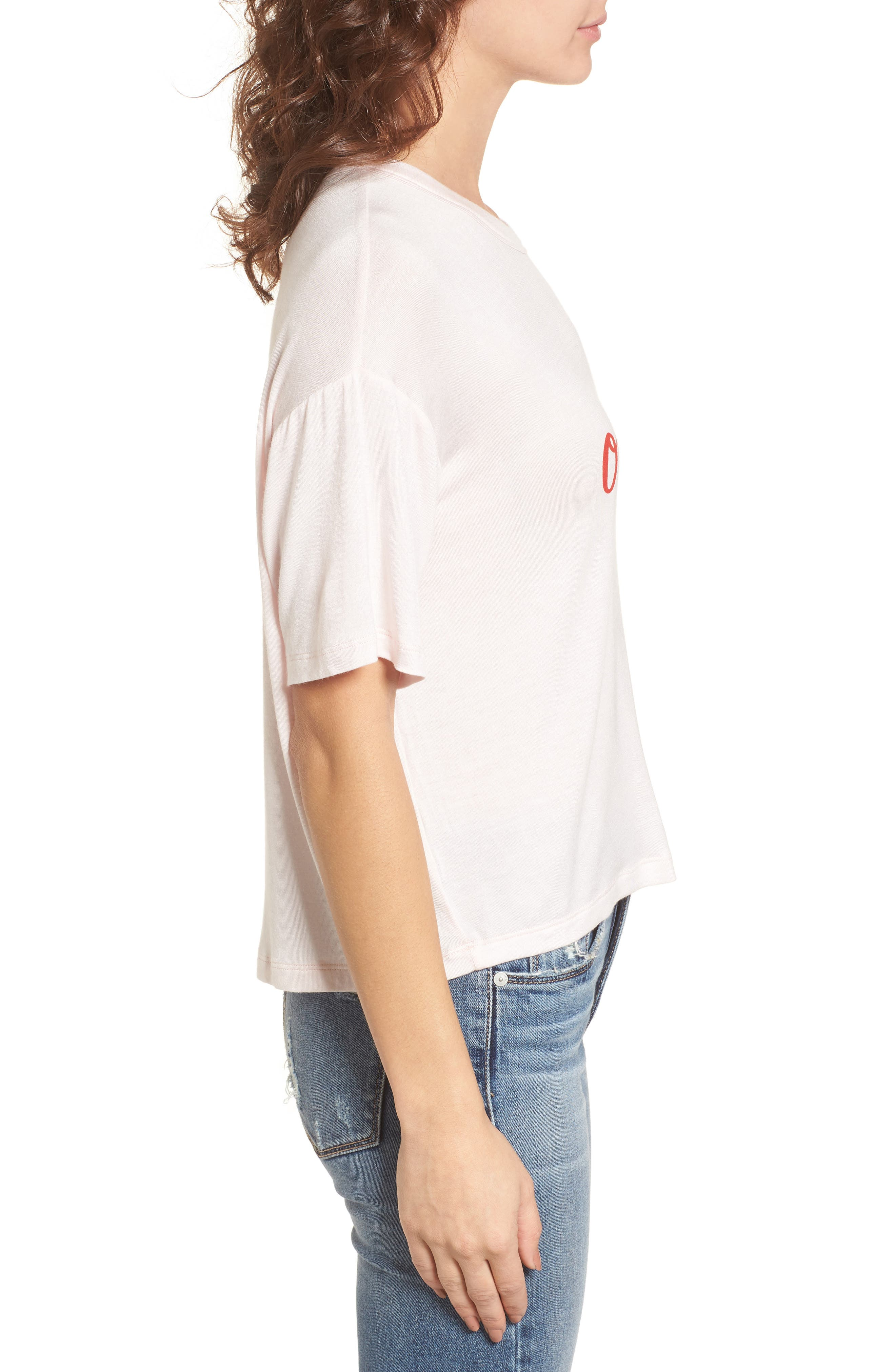Oui Oui Graphic Tee,                             Alternate thumbnail 3, color,                             Light Pink