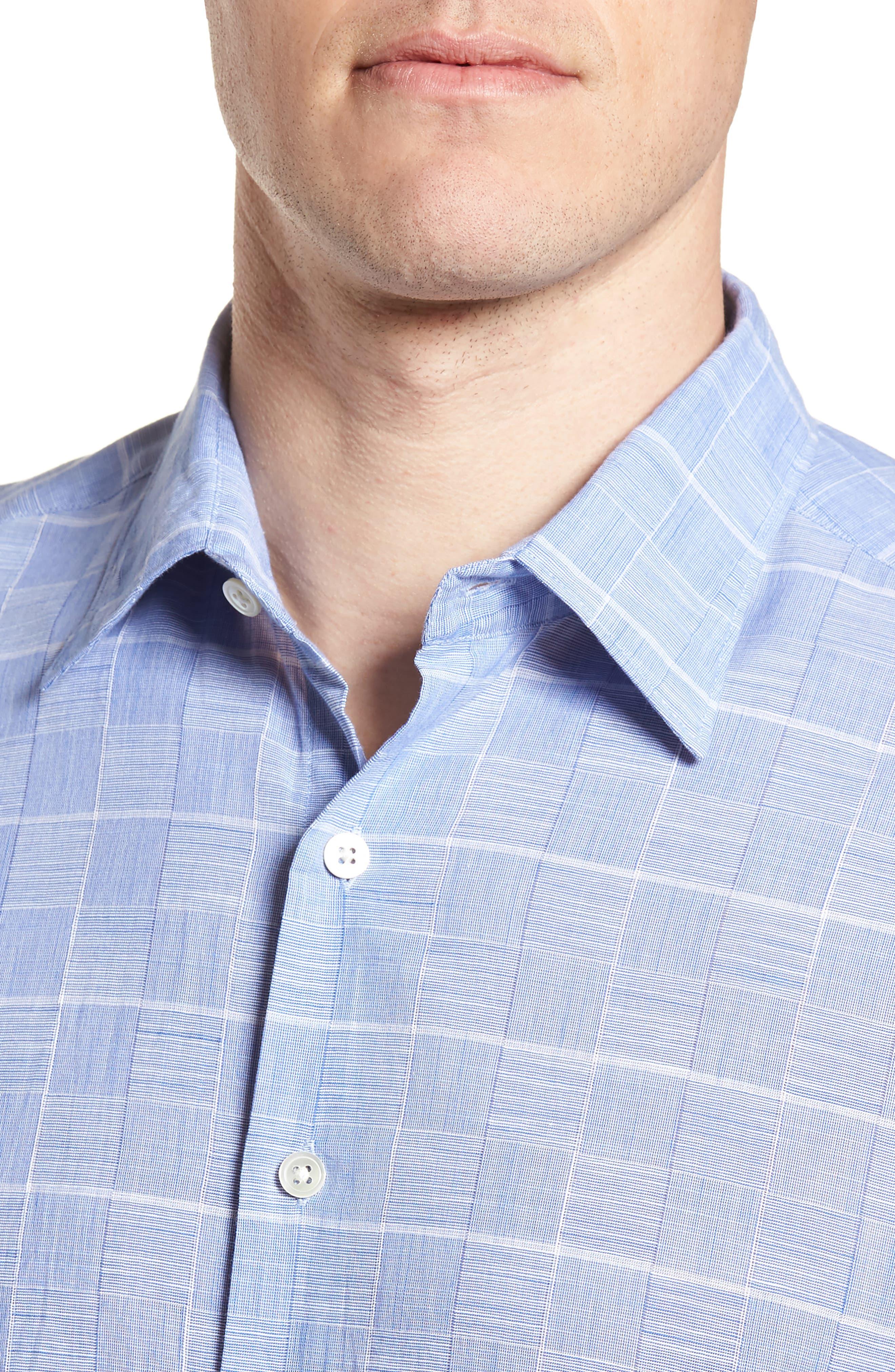 Tussock Creek Regular Fit Check Sport Shirt,                             Alternate thumbnail 2, color,                             Azure