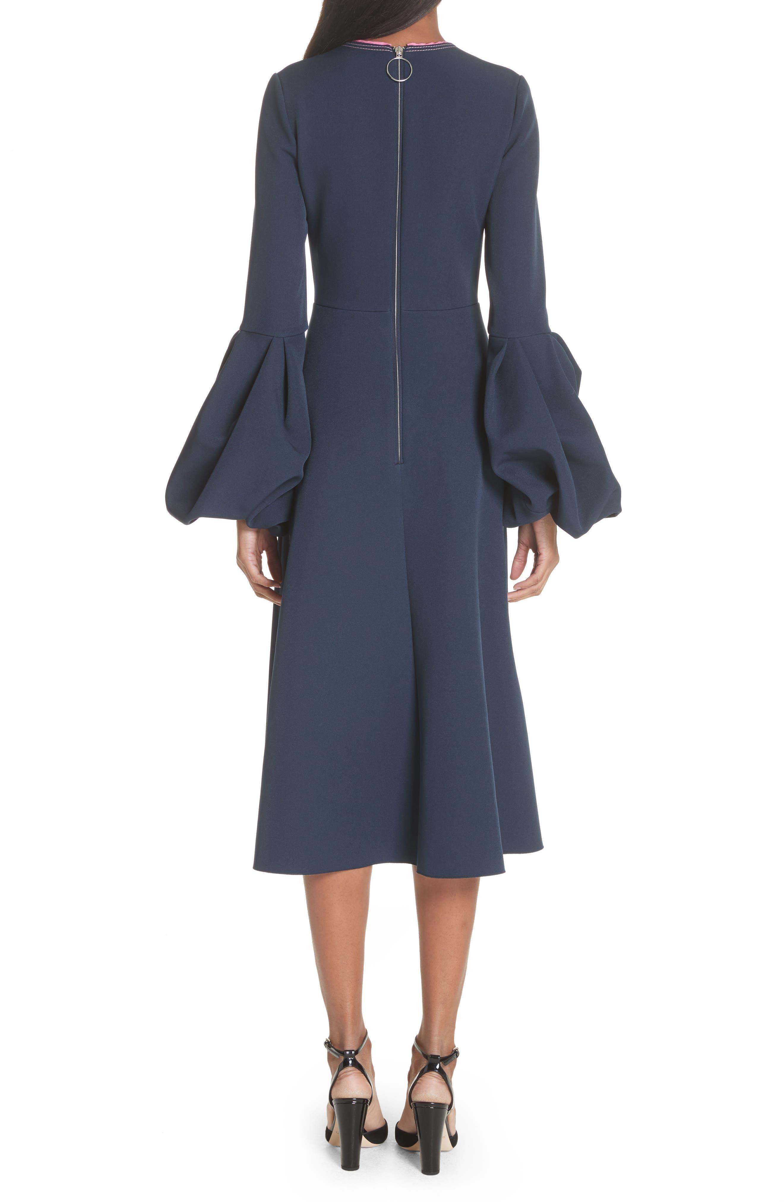 Aylin Bell Sleeve Dress,                             Alternate thumbnail 2, color,                             Squid Ink