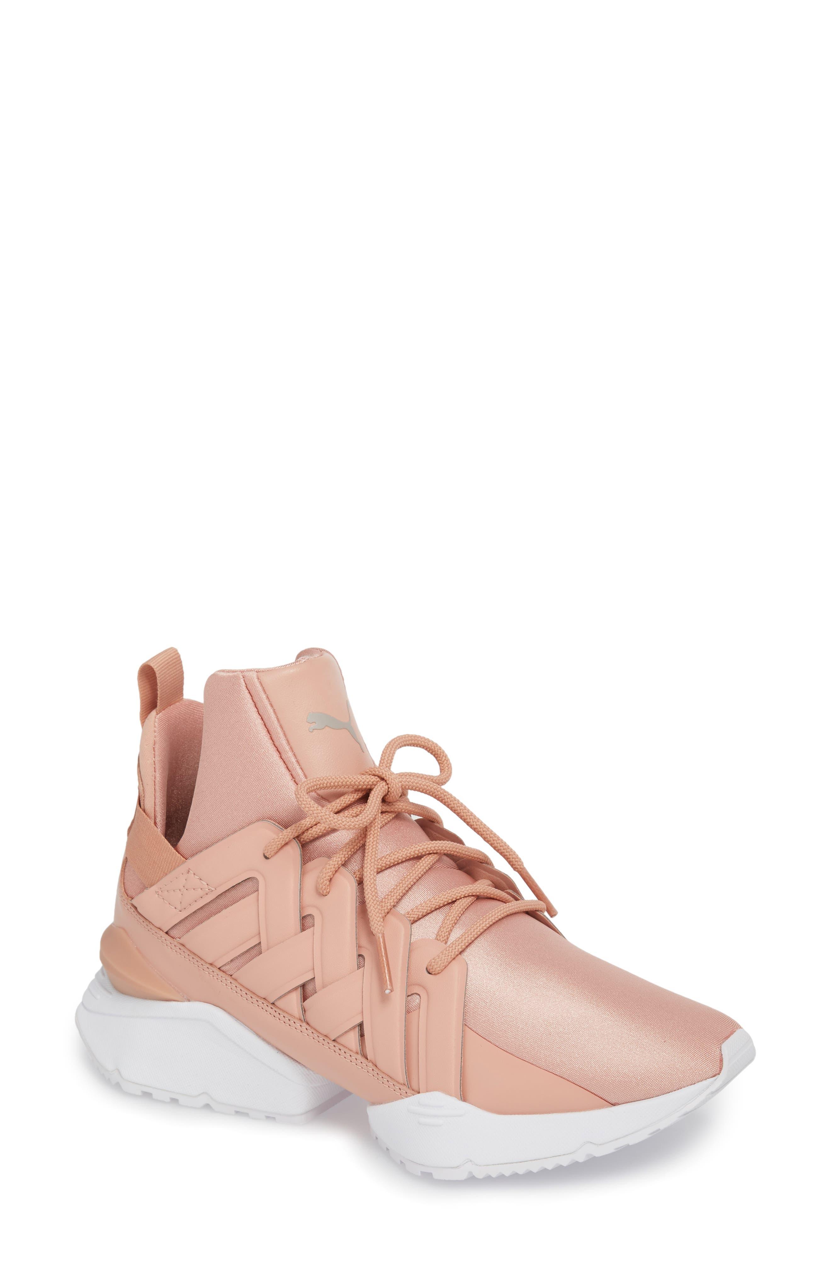 PUMA Muse Echo Satin En Pointe High Top Sneaker (Women)