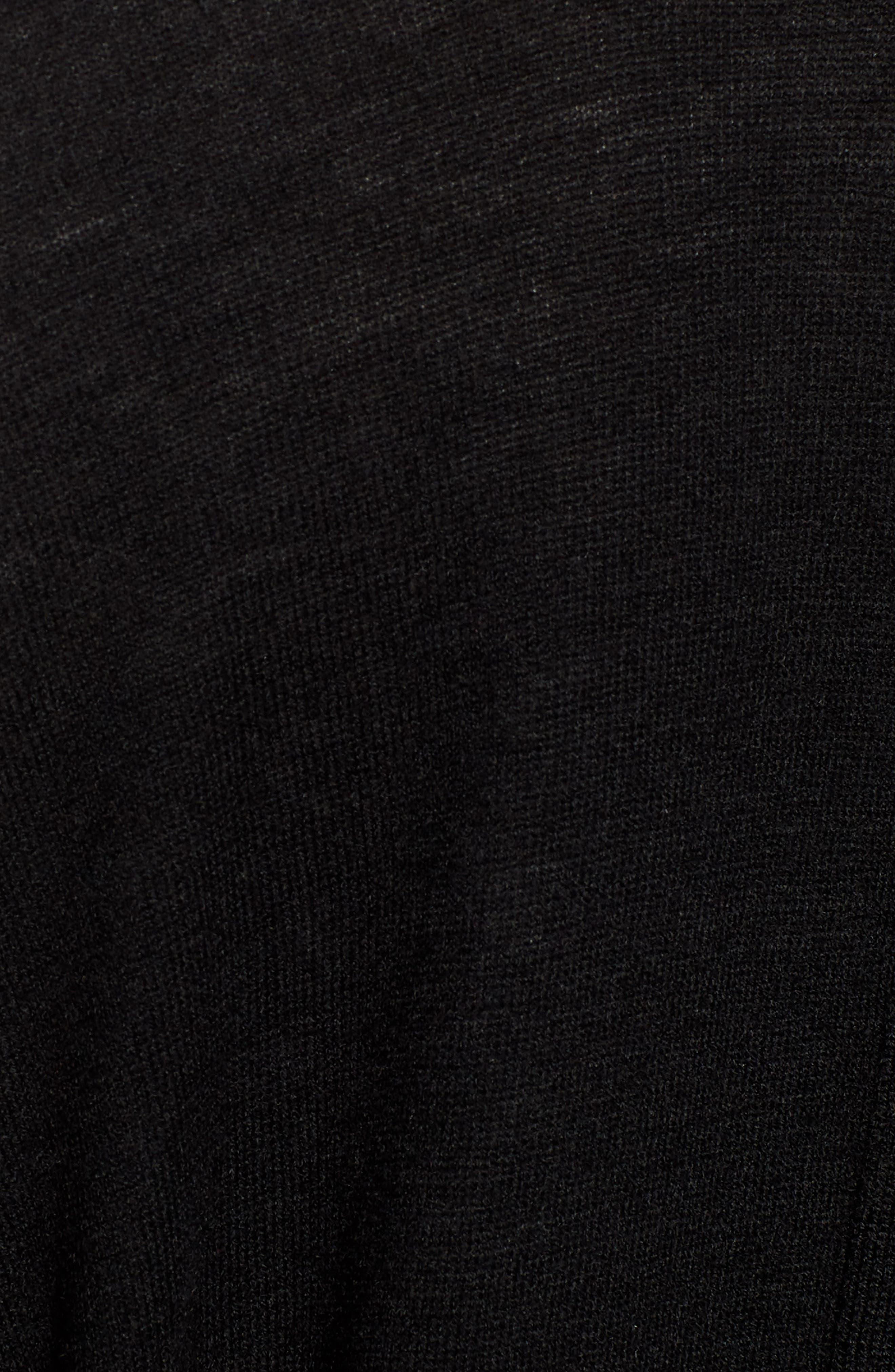Tie Back Cardigan,                             Alternate thumbnail 5, color,                             Black