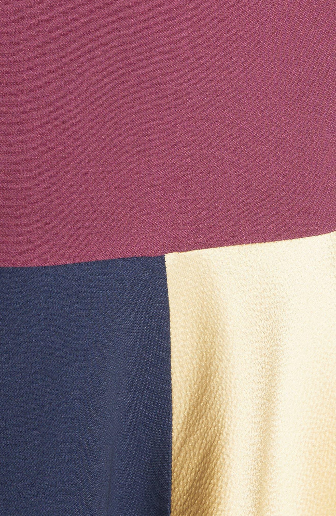 Rania Skirt,                             Alternate thumbnail 5, color,                             Sorbet/ Plum/ Navy