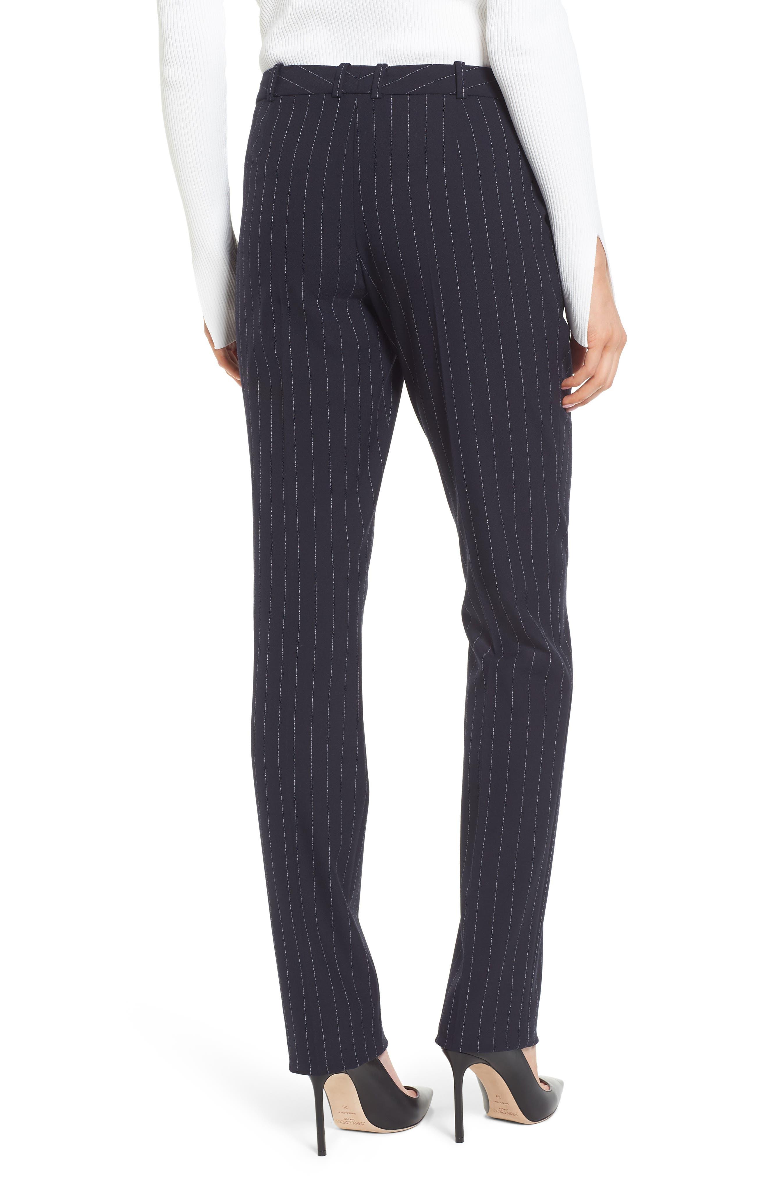 Titana Pinstripe Suit Trousers,                             Alternate thumbnail 3, color,                             Navy Fantasy