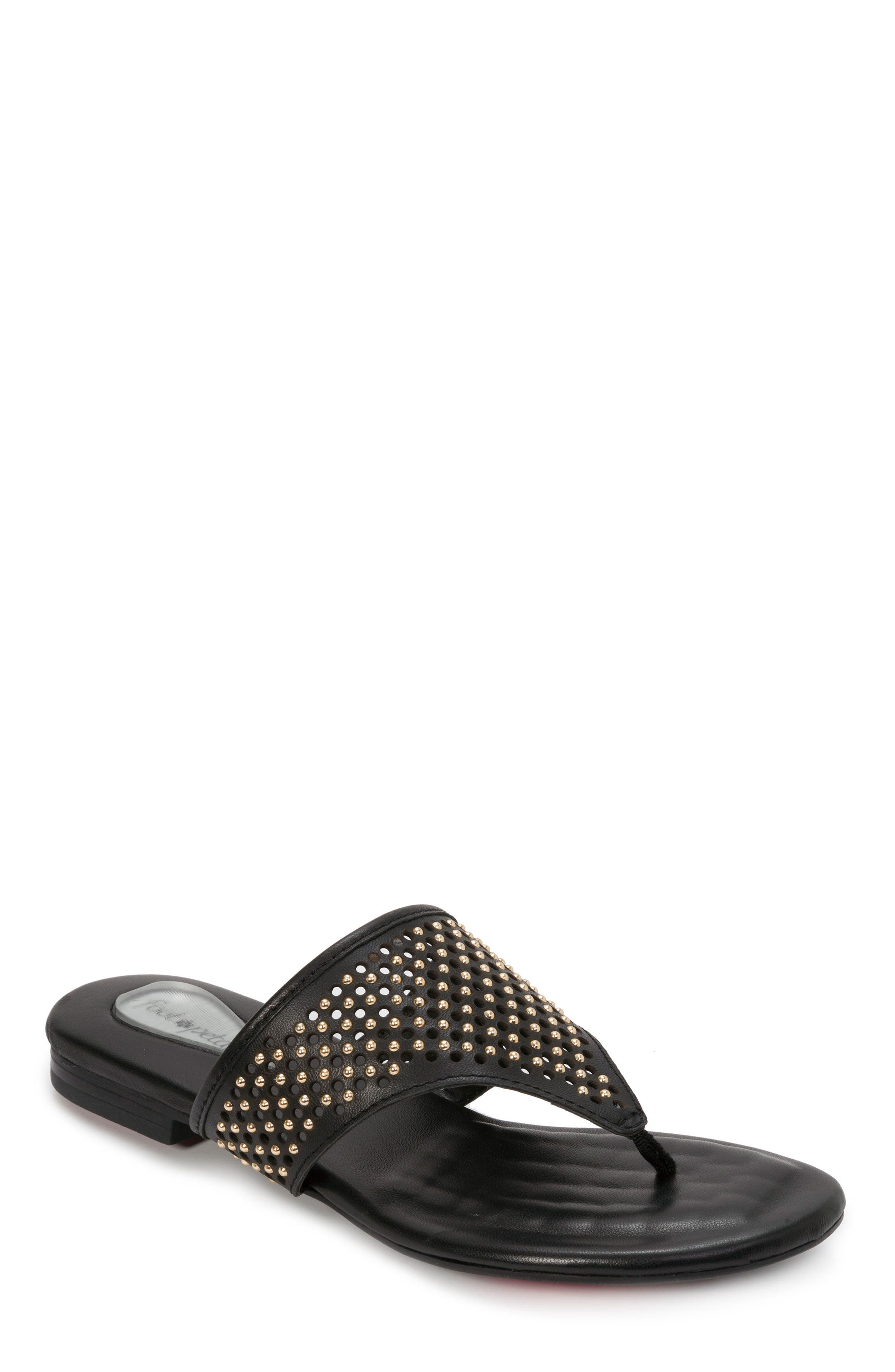 FOOT PETALS Evie Sandal in Black Leather