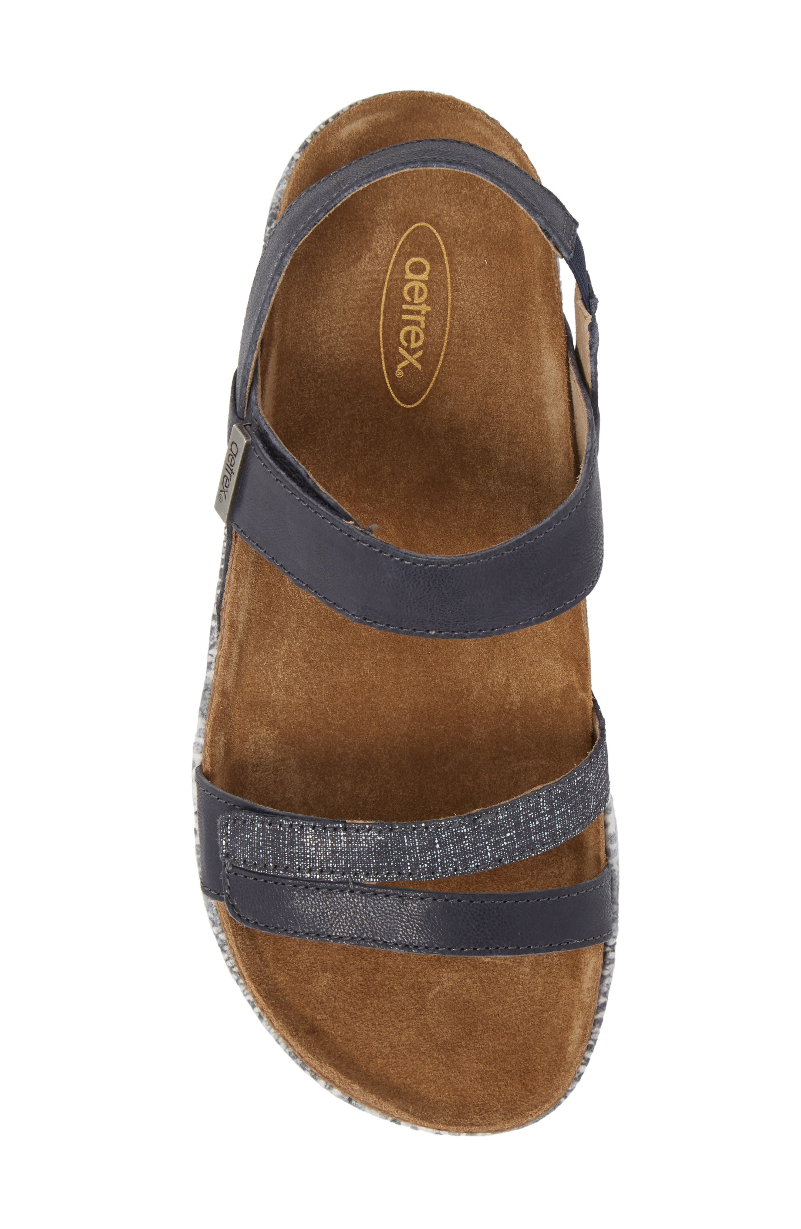 Bethany Sandal,                             Alternate thumbnail 5, color,                             Navy Multi Leather