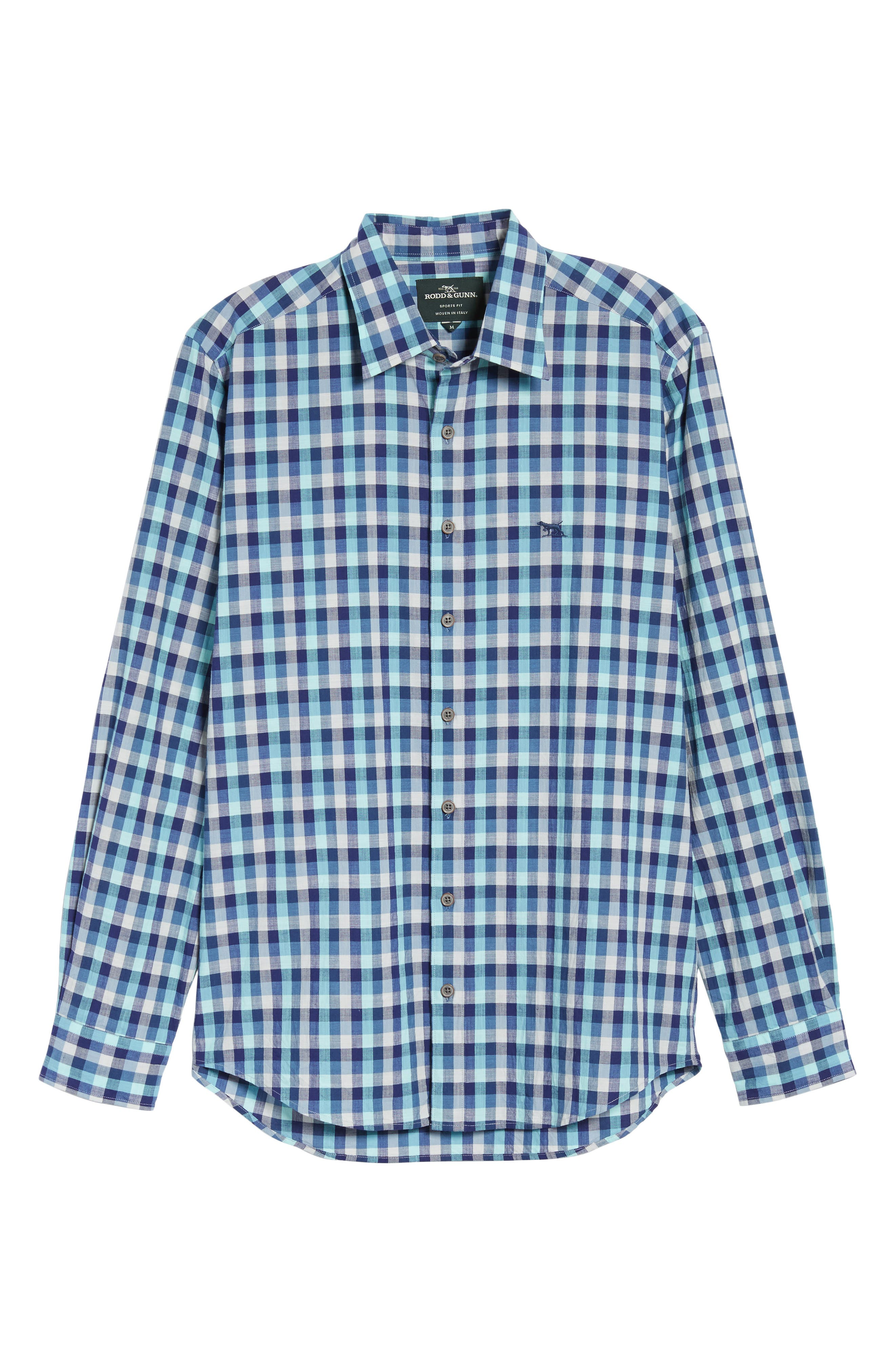 Larson Regular Fit Check Sport Shirt,                             Alternate thumbnail 6, color,                             Seagrass