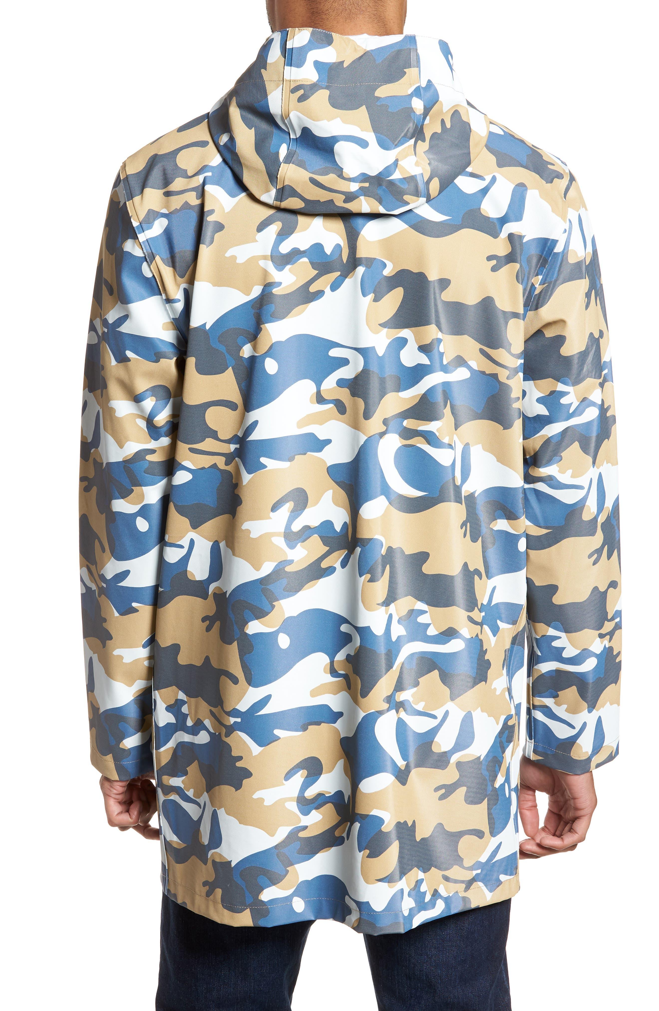 Stockholm Waterproof Hooded Raincoat,                             Alternate thumbnail 2, color,                             Camo