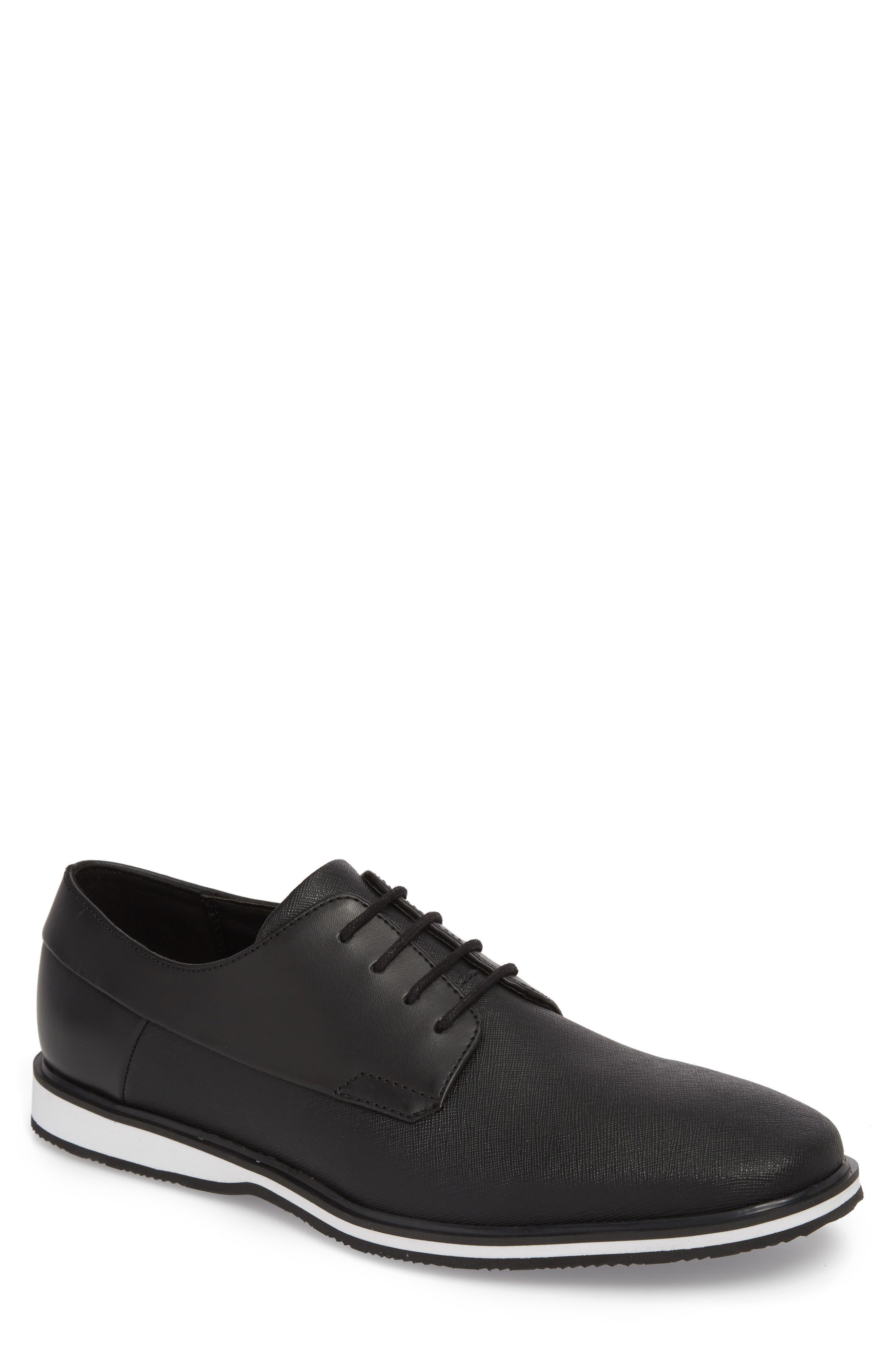 Wilfred Plain Toe Derby,                         Main,                         color, Black