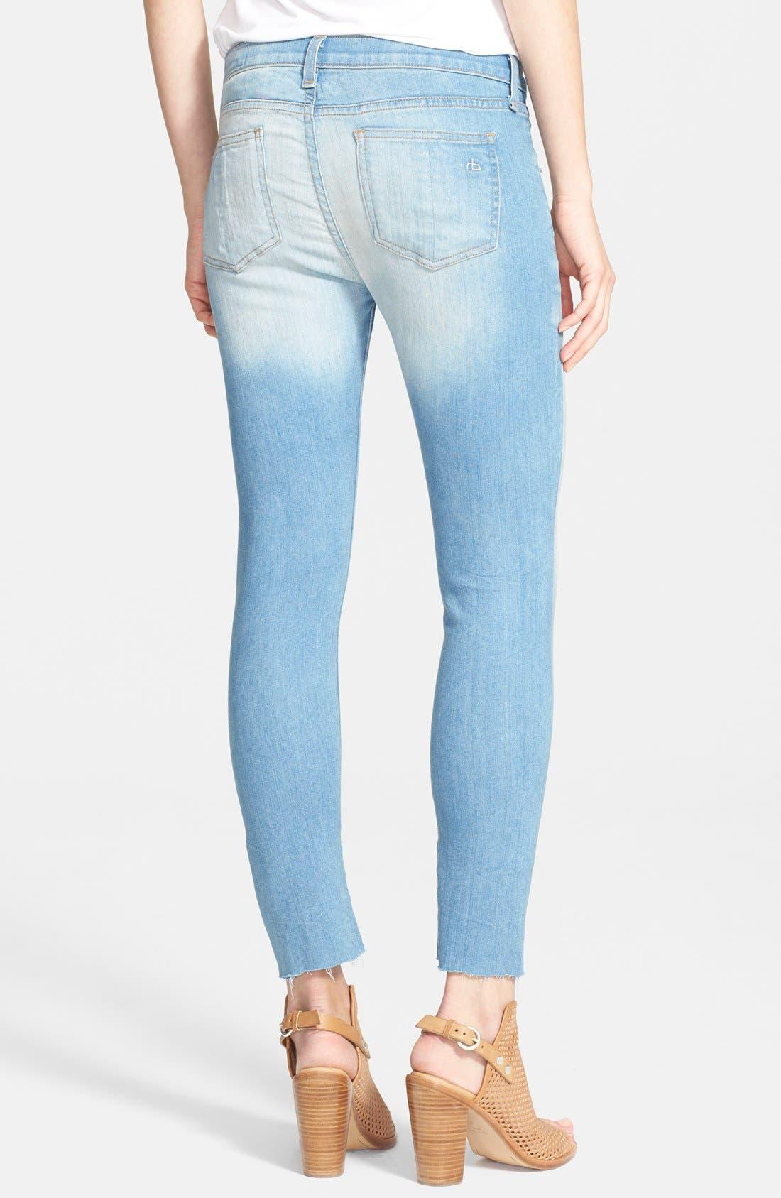 Alternate Image 2  - rag & bone/JEAN Low Rise Crop Skinny Jeans