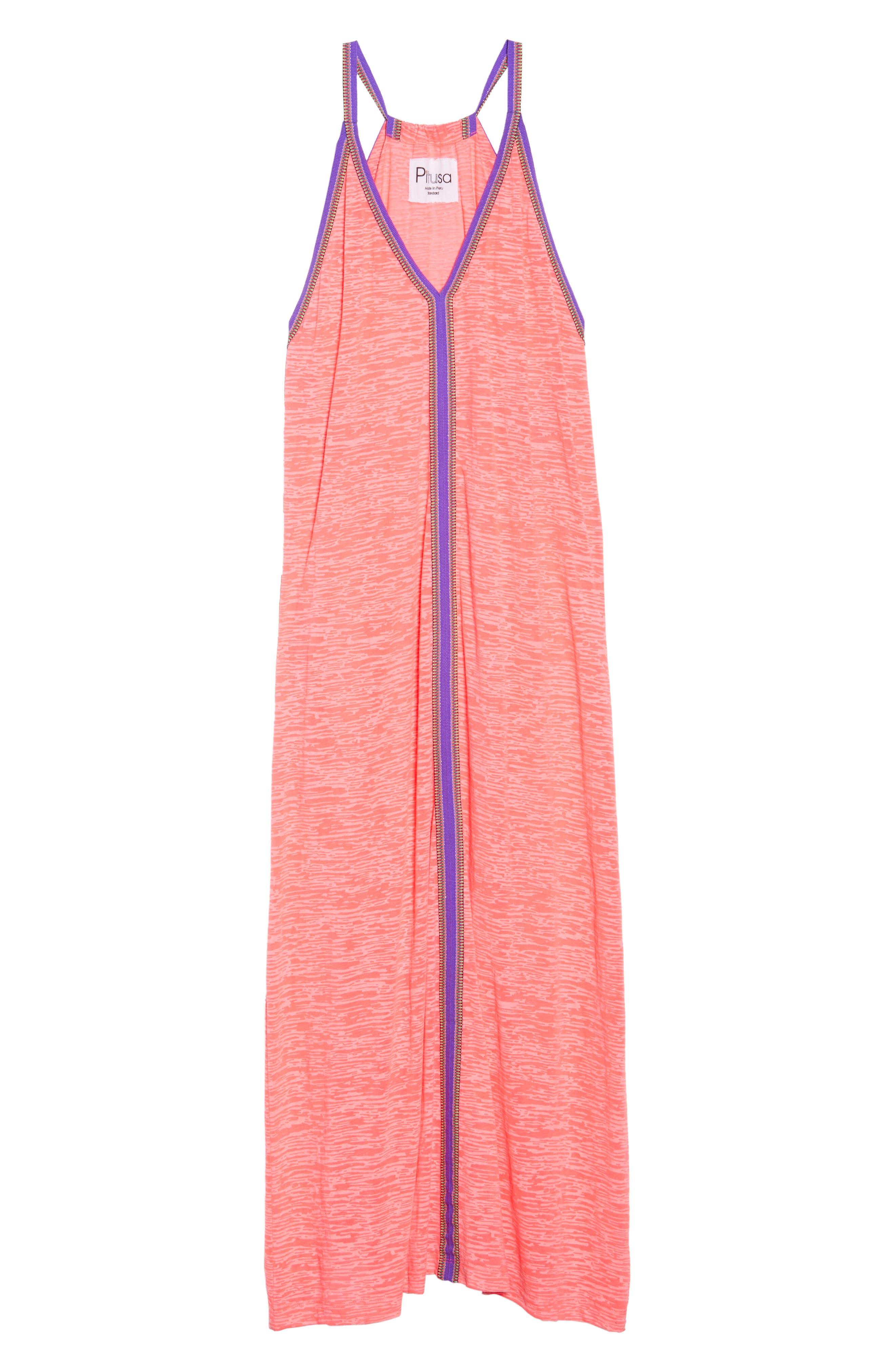 Inca Cover-Up Maxi Sundress,                             Alternate thumbnail 6, color,                             Hot Pink