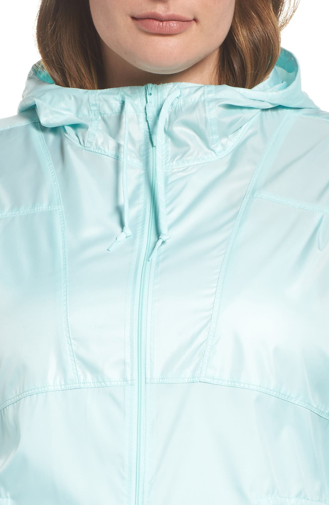 Alternate Image 4  - Columbia Flashback™ Water Resistant Hooded Windbreaker (Plus Size)