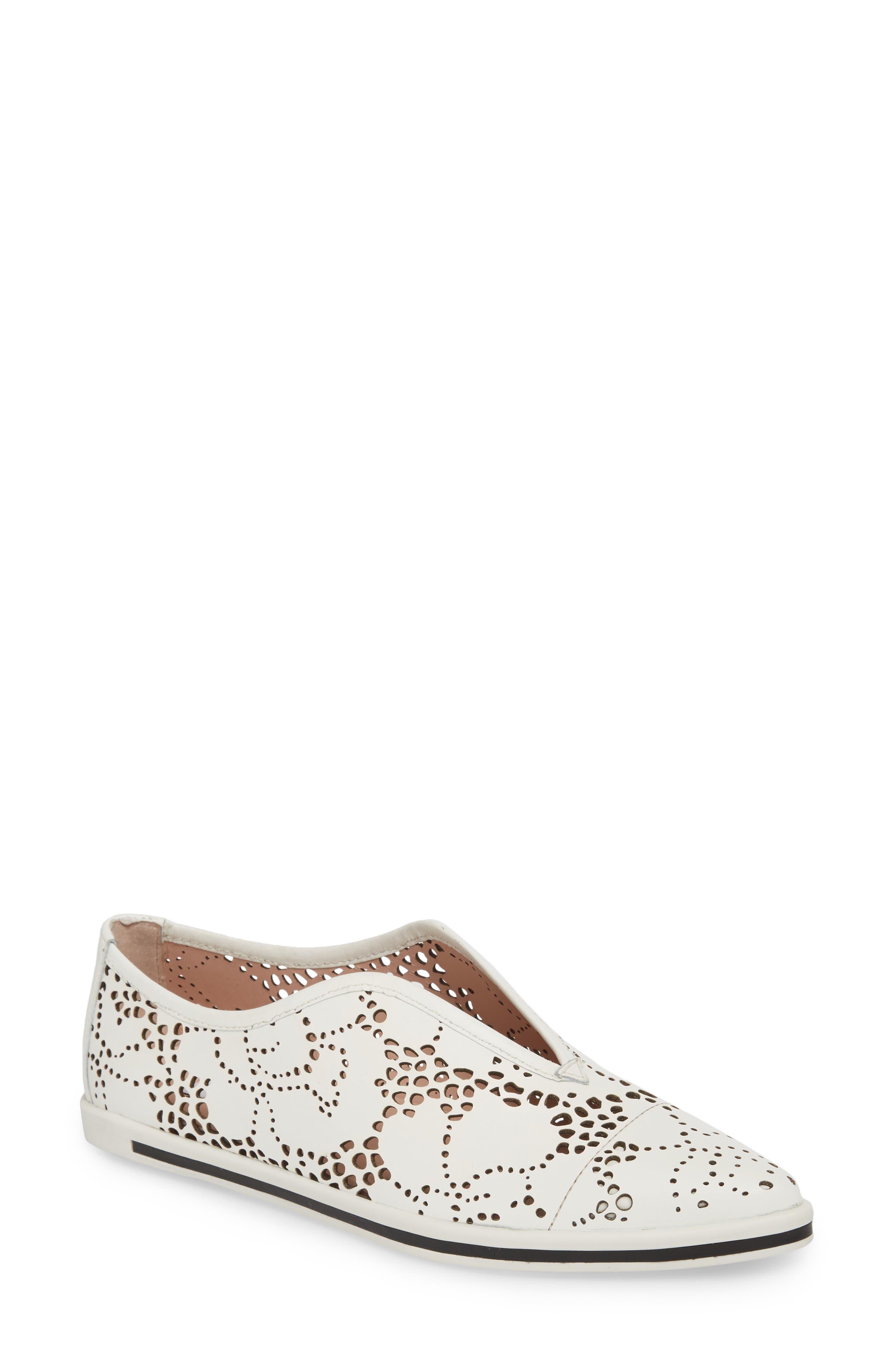Tisha II Slip-On Sneaker,                         Main,                         color, White Leather