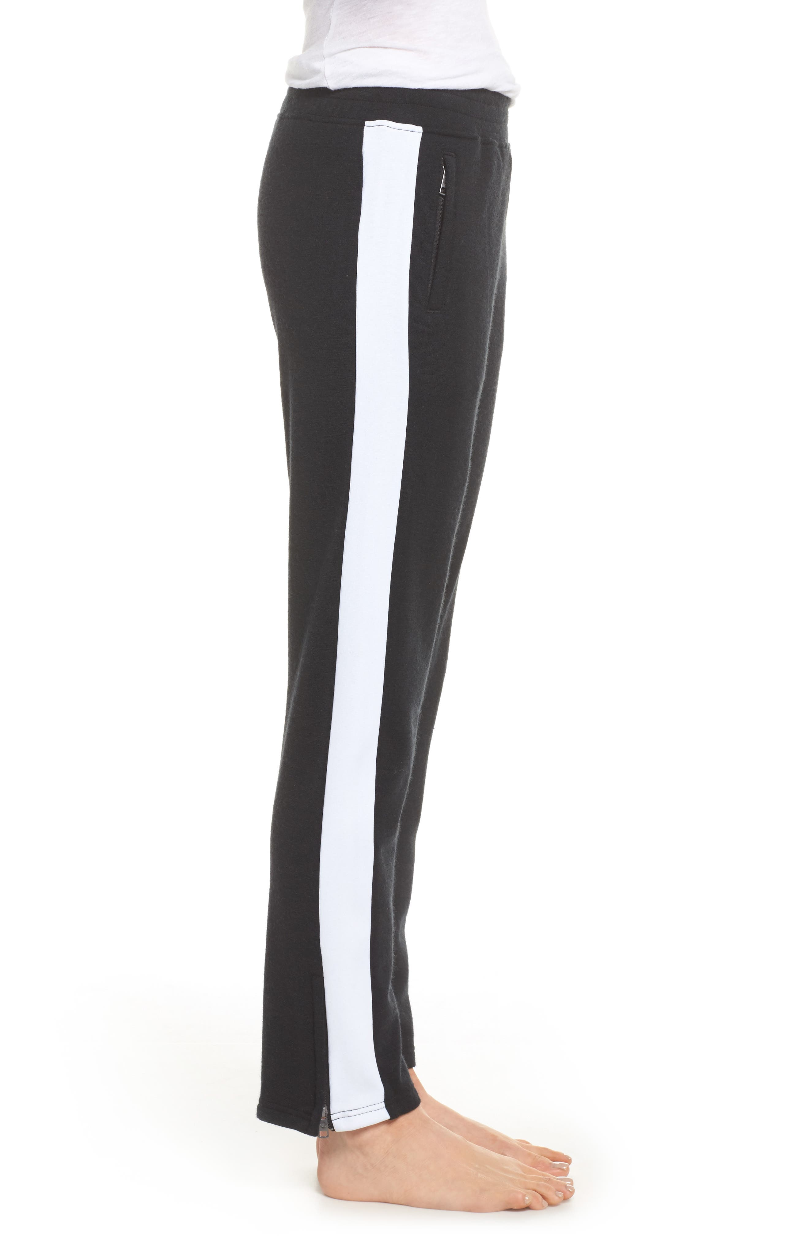 Lizy Track Pants,                             Alternate thumbnail 3, color,                             Black