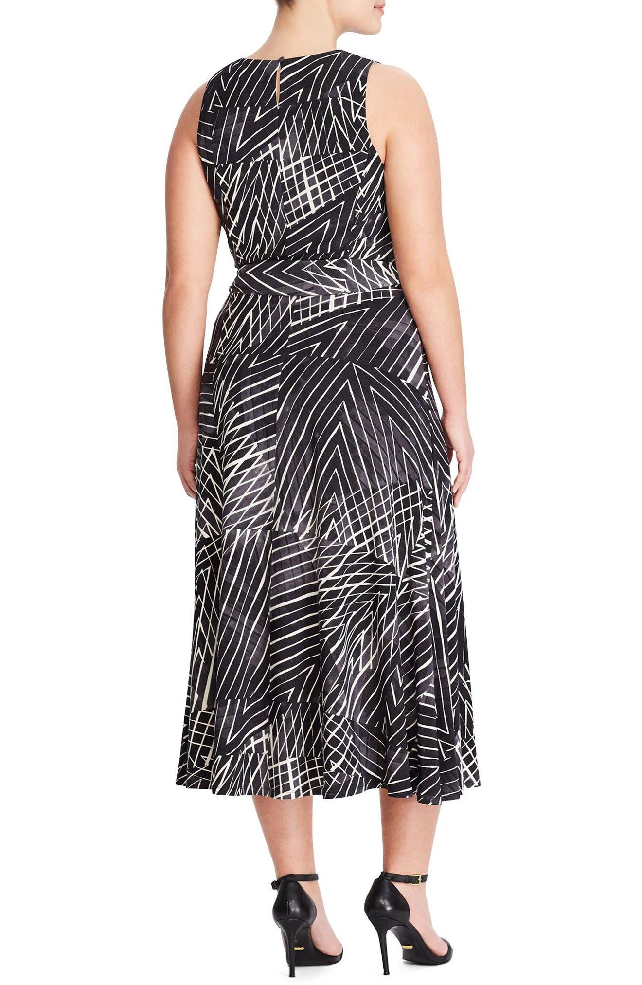 Stripe Midi Dress,                             Alternate thumbnail 2, color,                             Slate-Col. Cream-Multi