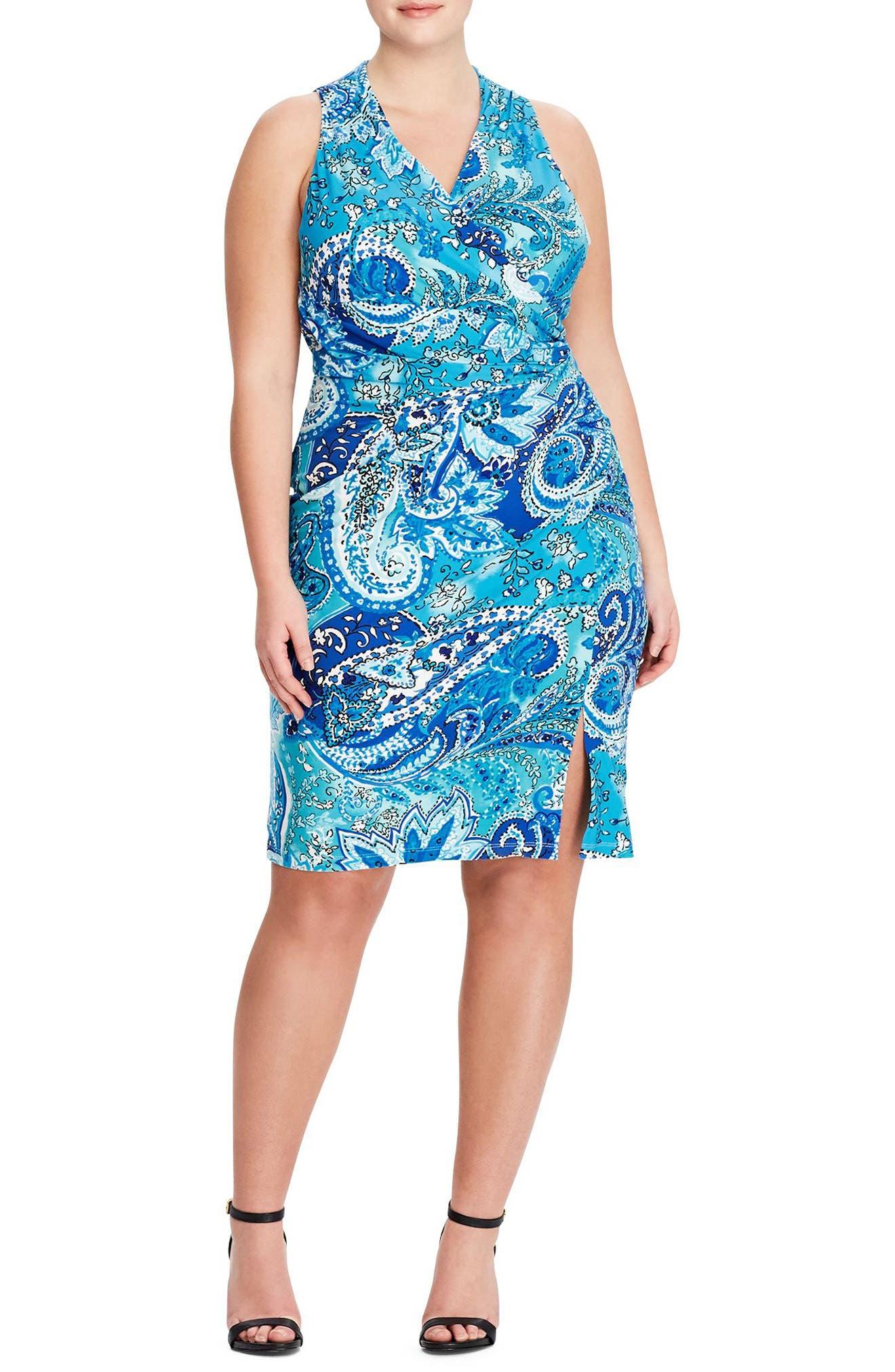 Lauren Ralph Lauren Harkins Petra Sheath Dress (Plus Size)
