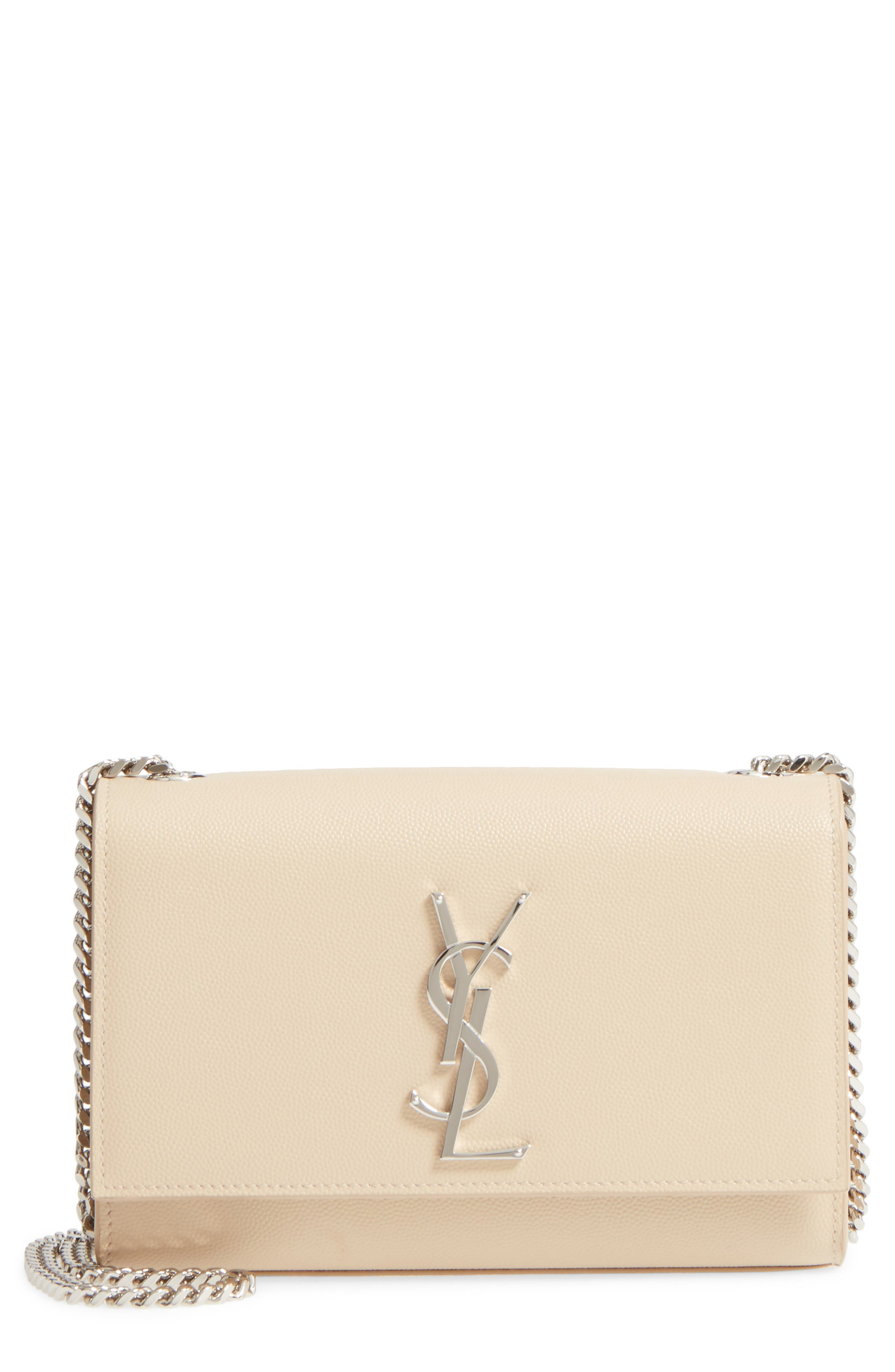 Main Image - Saint Laurent Small Kate Grained Leather Crossbody Bag