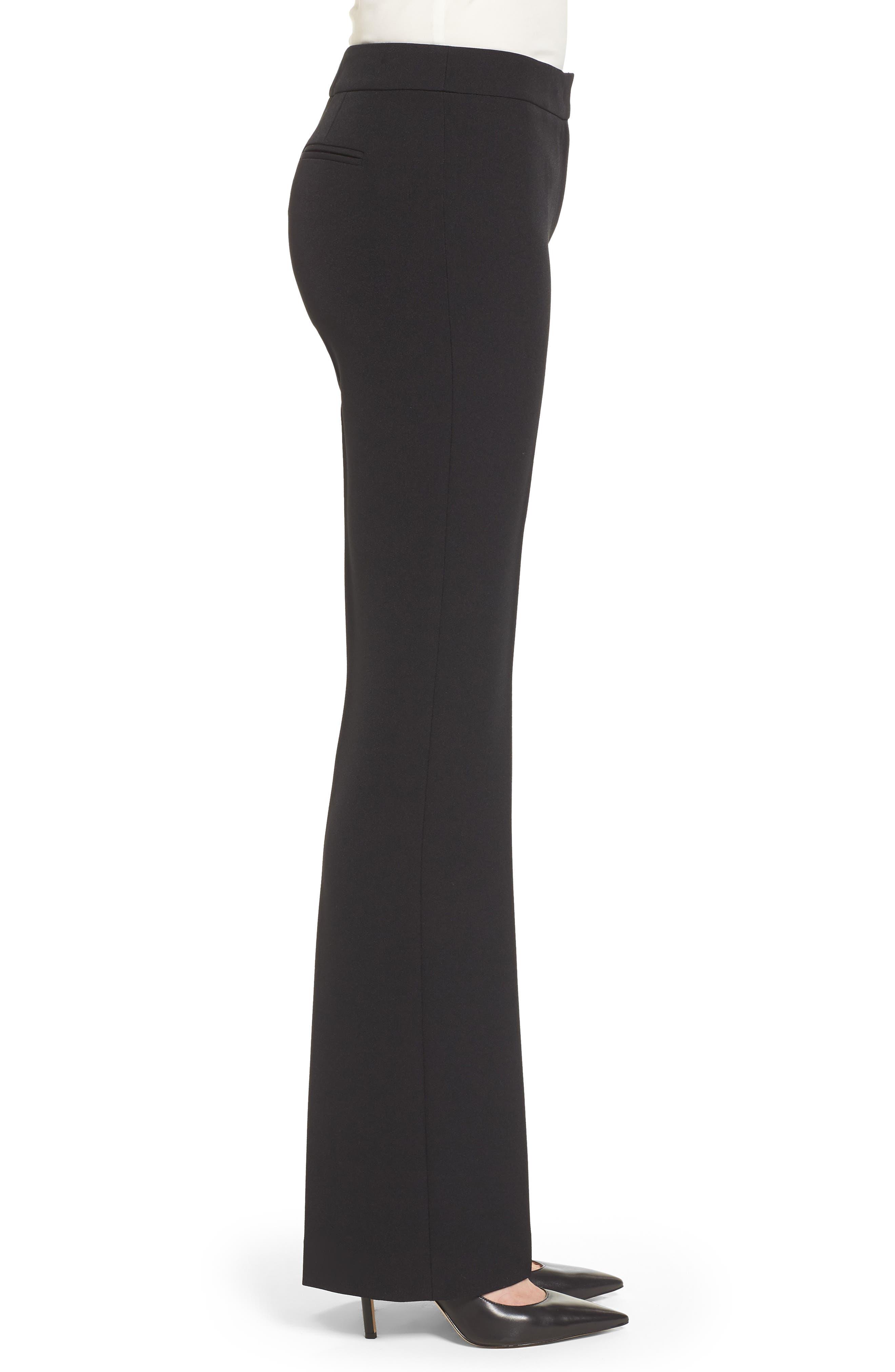 Flare Leg Pants,                             Alternate thumbnail 3, color,                             Black