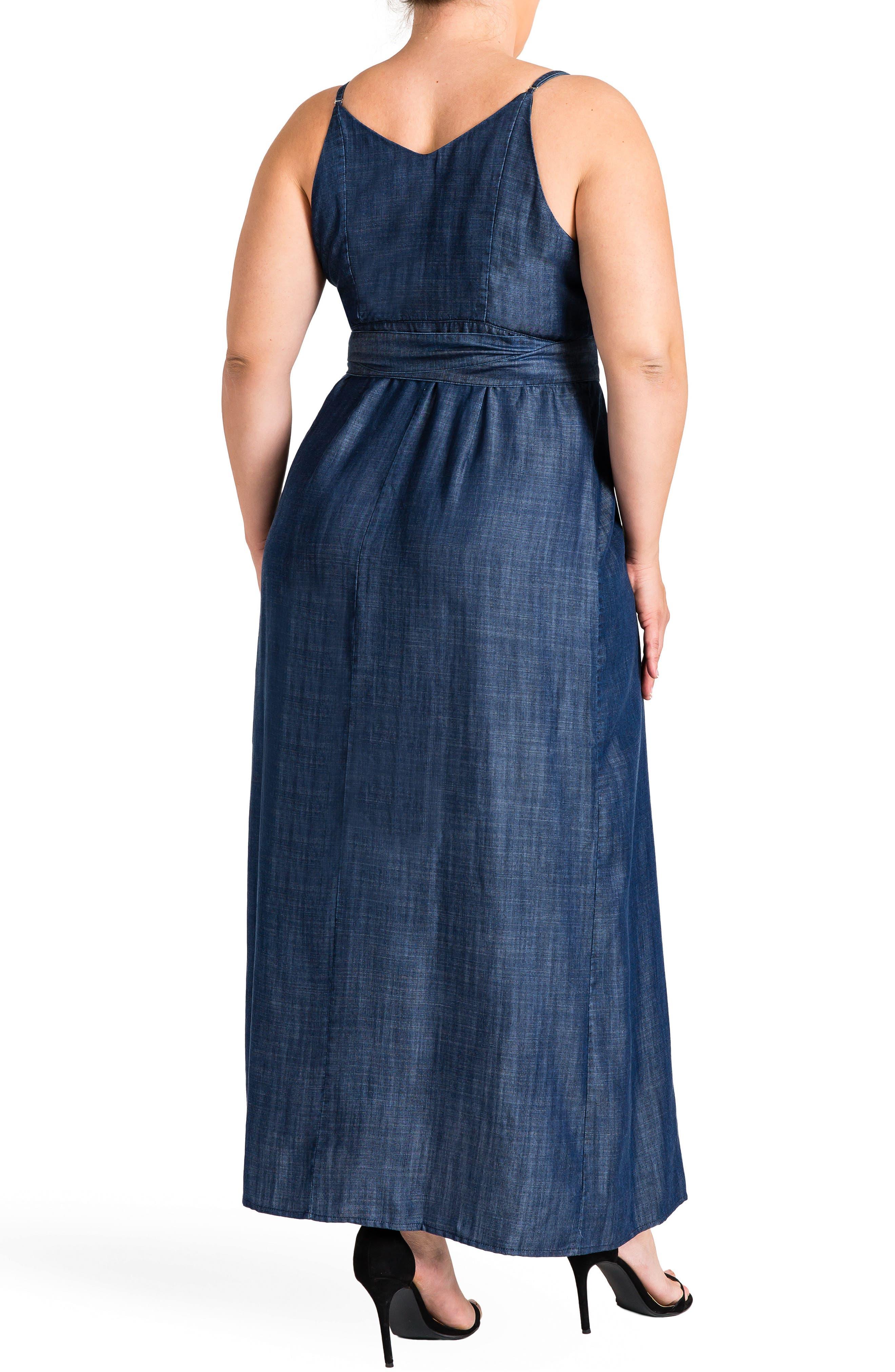 Jodi Wrap Maxi Dress,                             Alternate thumbnail 2, color,                             Dark Blue