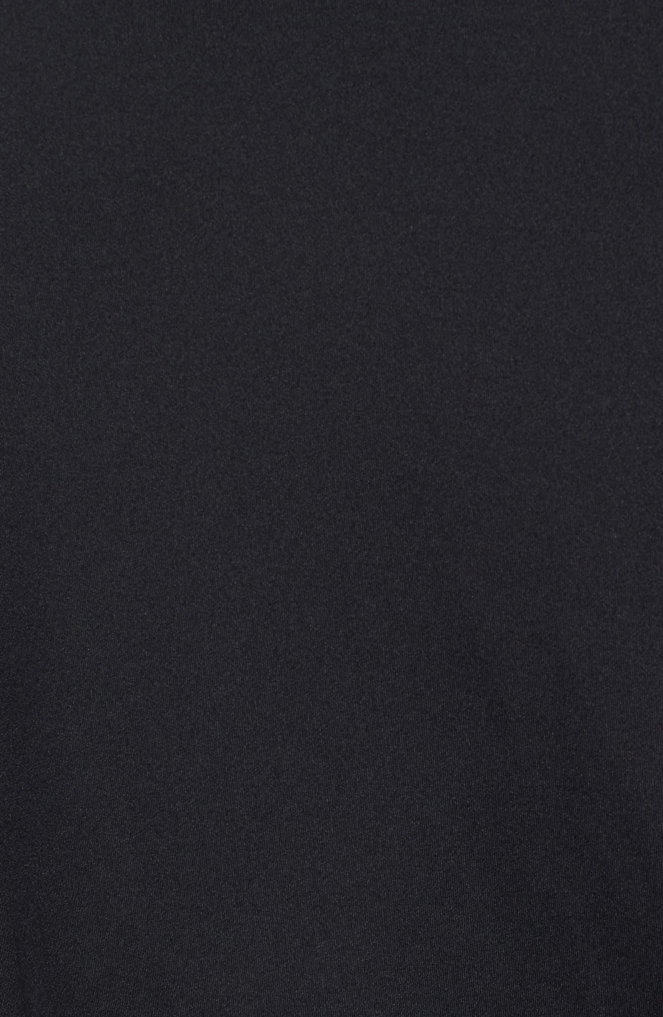 Pro Fitted T-Shirt,                             Alternate thumbnail 5, color,                             Black/White/White