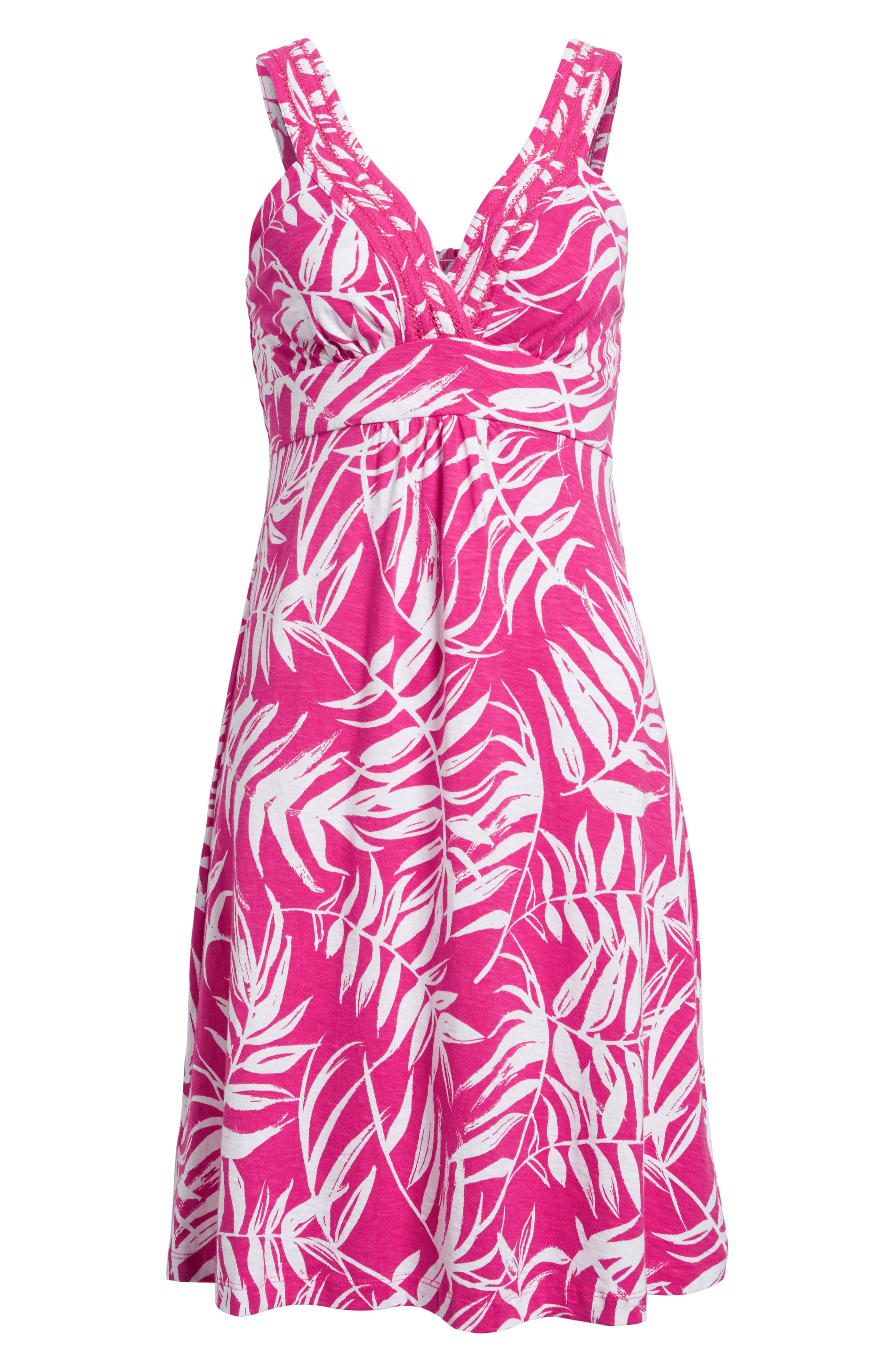 Fronds with Benefits Dress,                             Alternate thumbnail 6, color,                             Bright Blush
