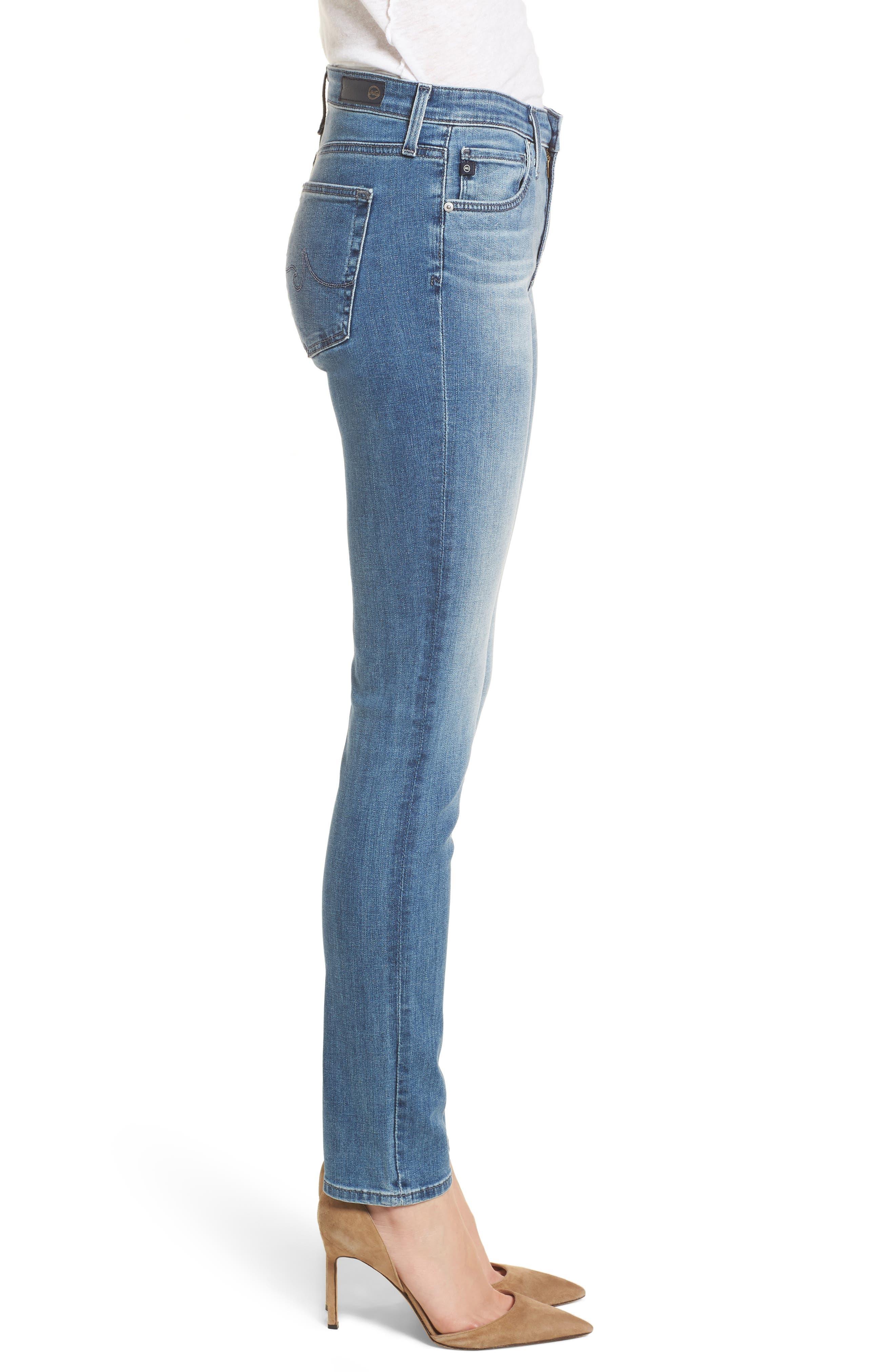'Prima' Skinny Jeans,                             Alternate thumbnail 3, color,                             Sea Sprite