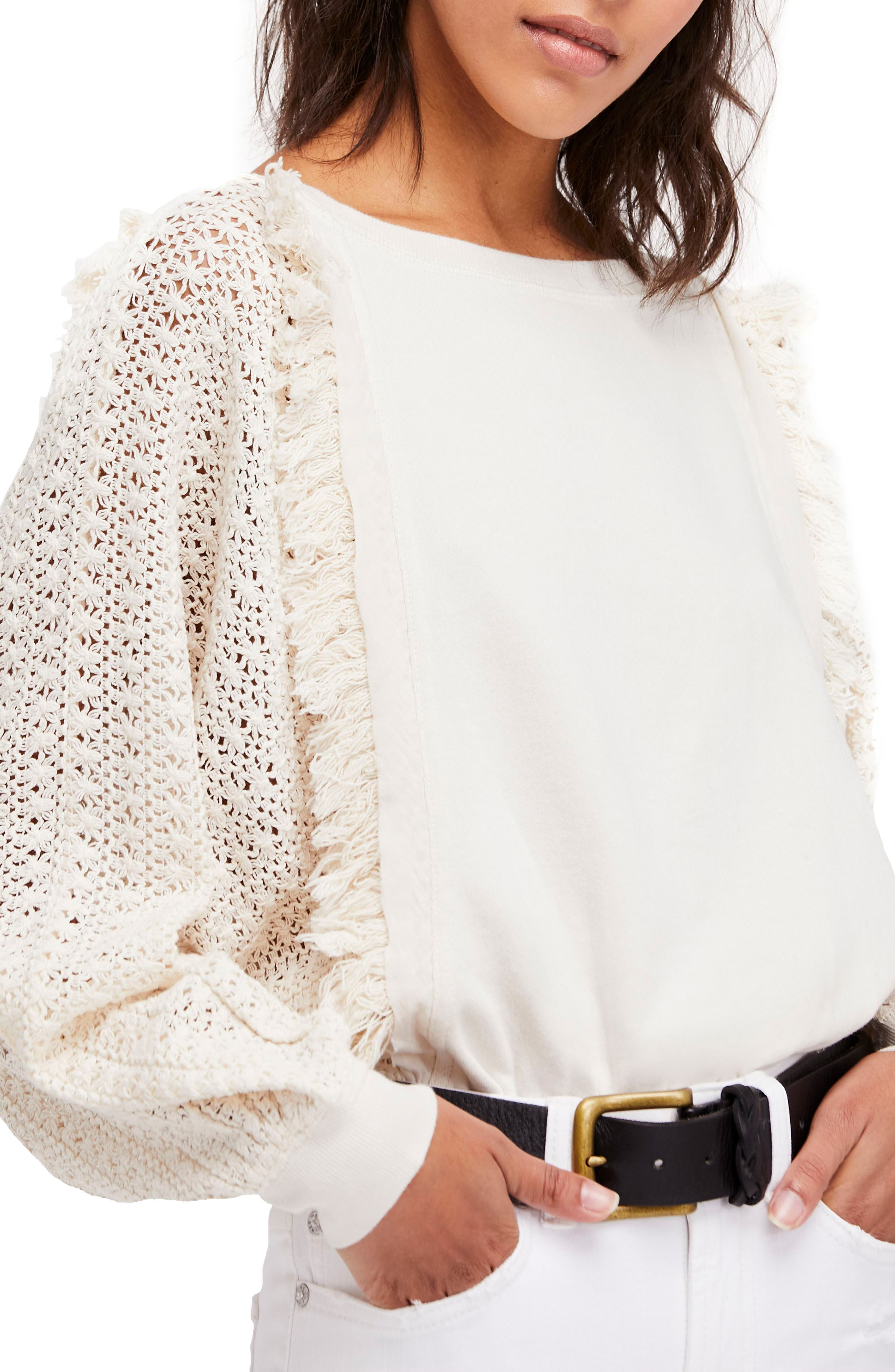 Free People Faff Fringe Sweater