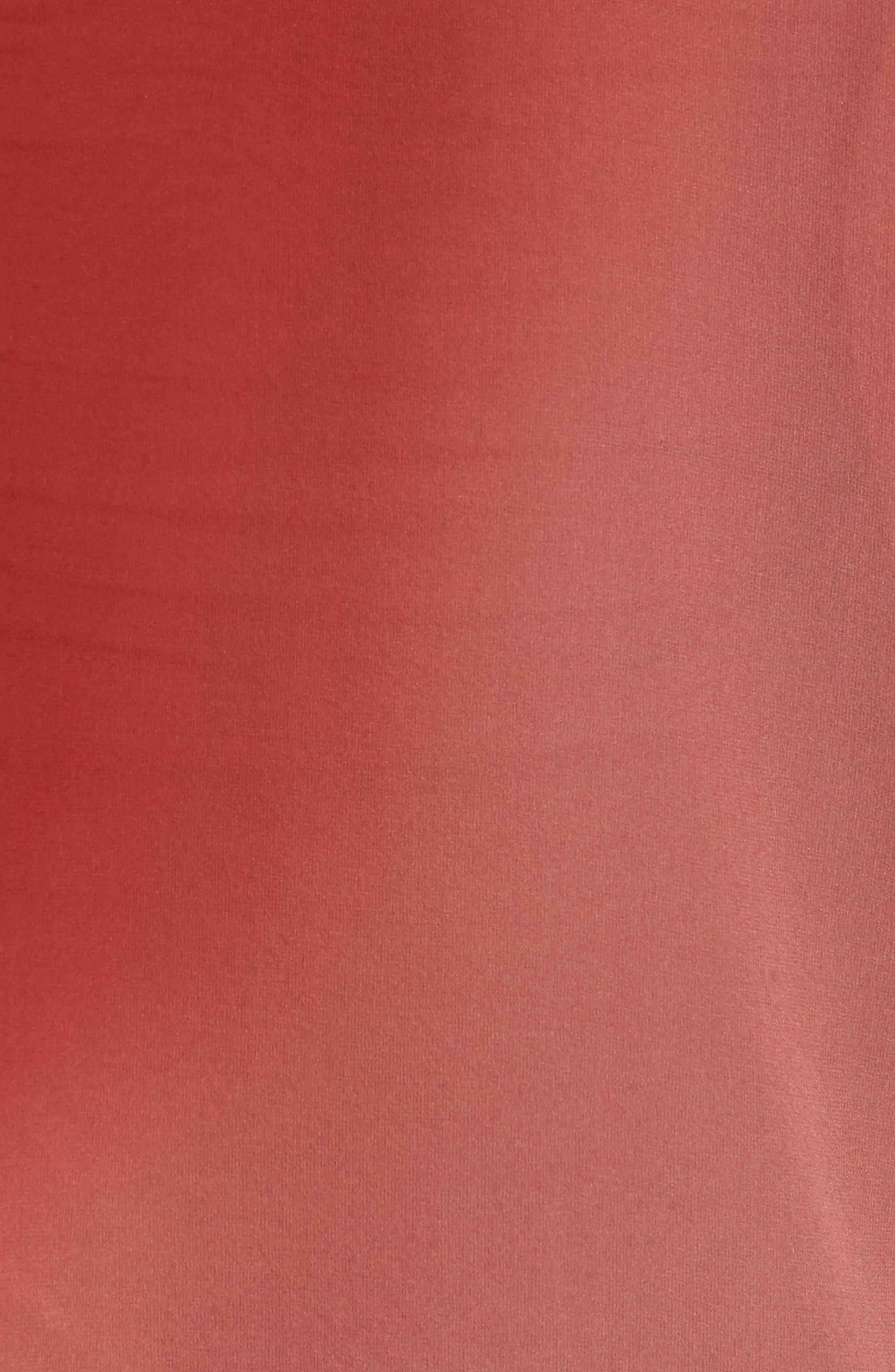 Ombré Silk Short Sleeve Top,                             Alternate thumbnail 5, color,                             Serrano