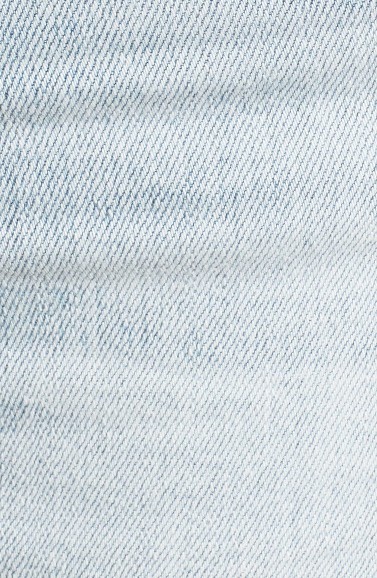 The Farrah High Waist Ankle Skinny Jeans,                             Alternate thumbnail 7, color,                             24 Years-Seabird