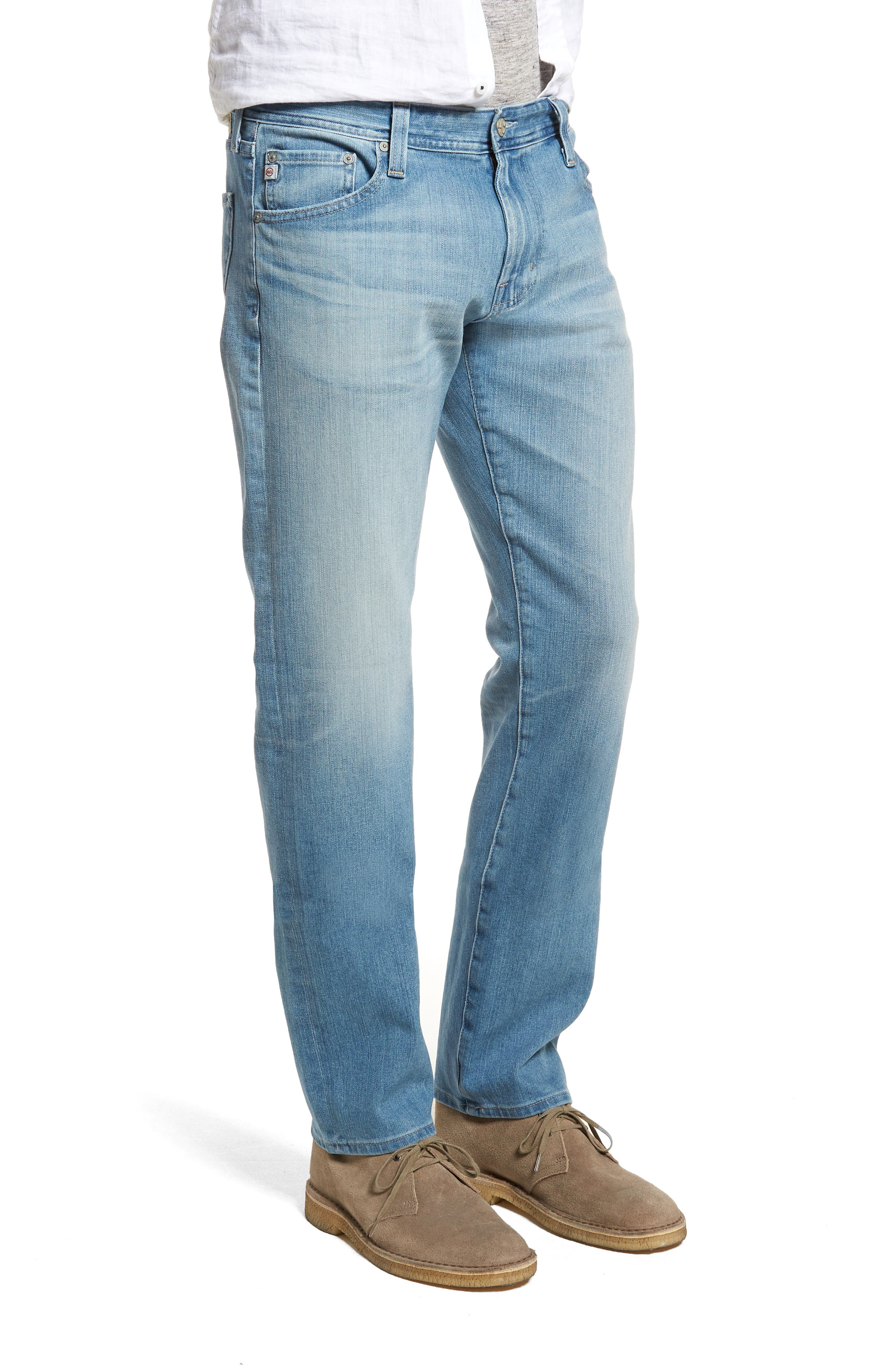 Graduate Slim Straight Leg Jeans,                             Alternate thumbnail 3, color,                             19 Years Channel