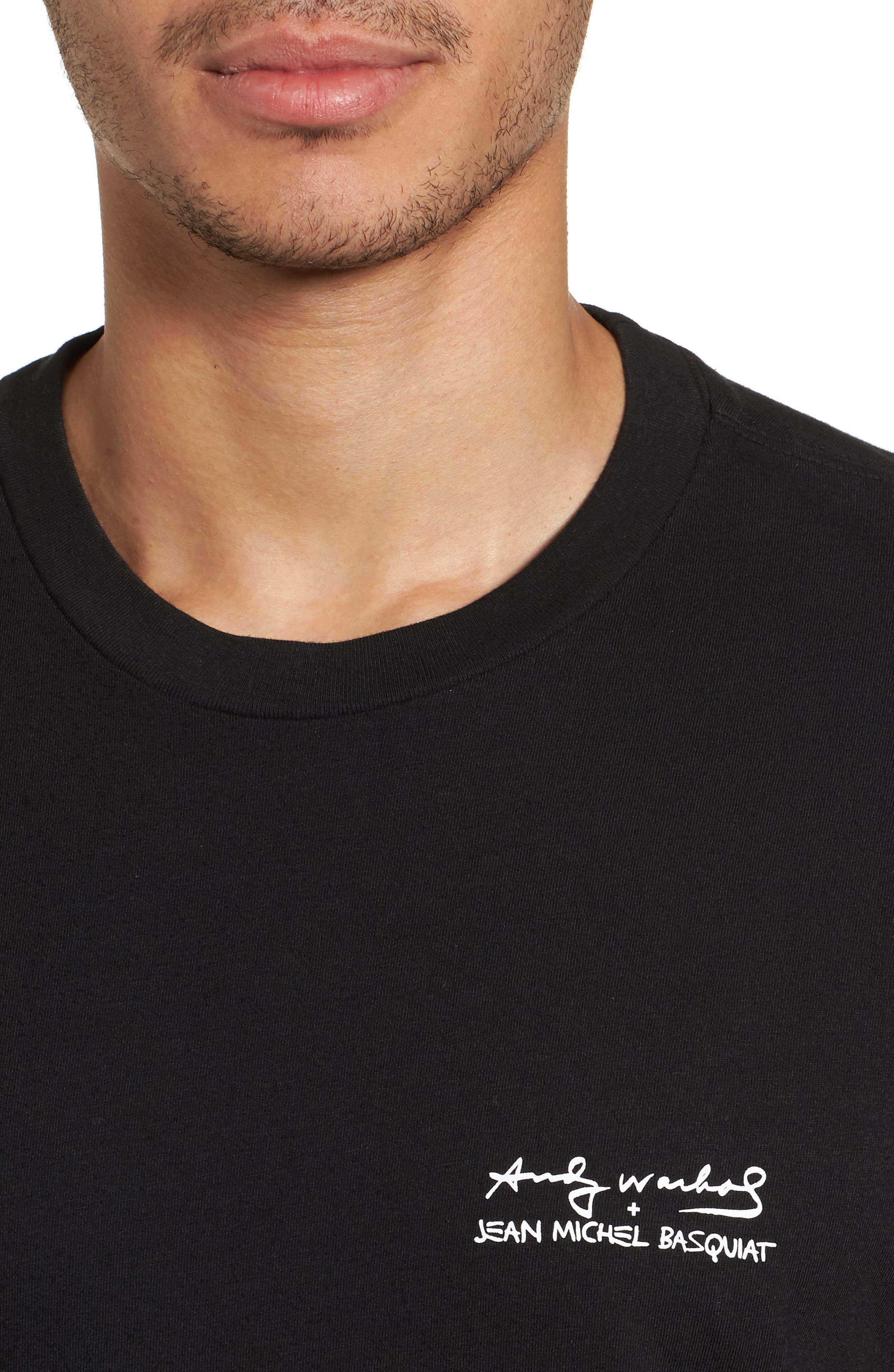 Fright Wig T-Shirt,                             Alternate thumbnail 4, color,                             Black