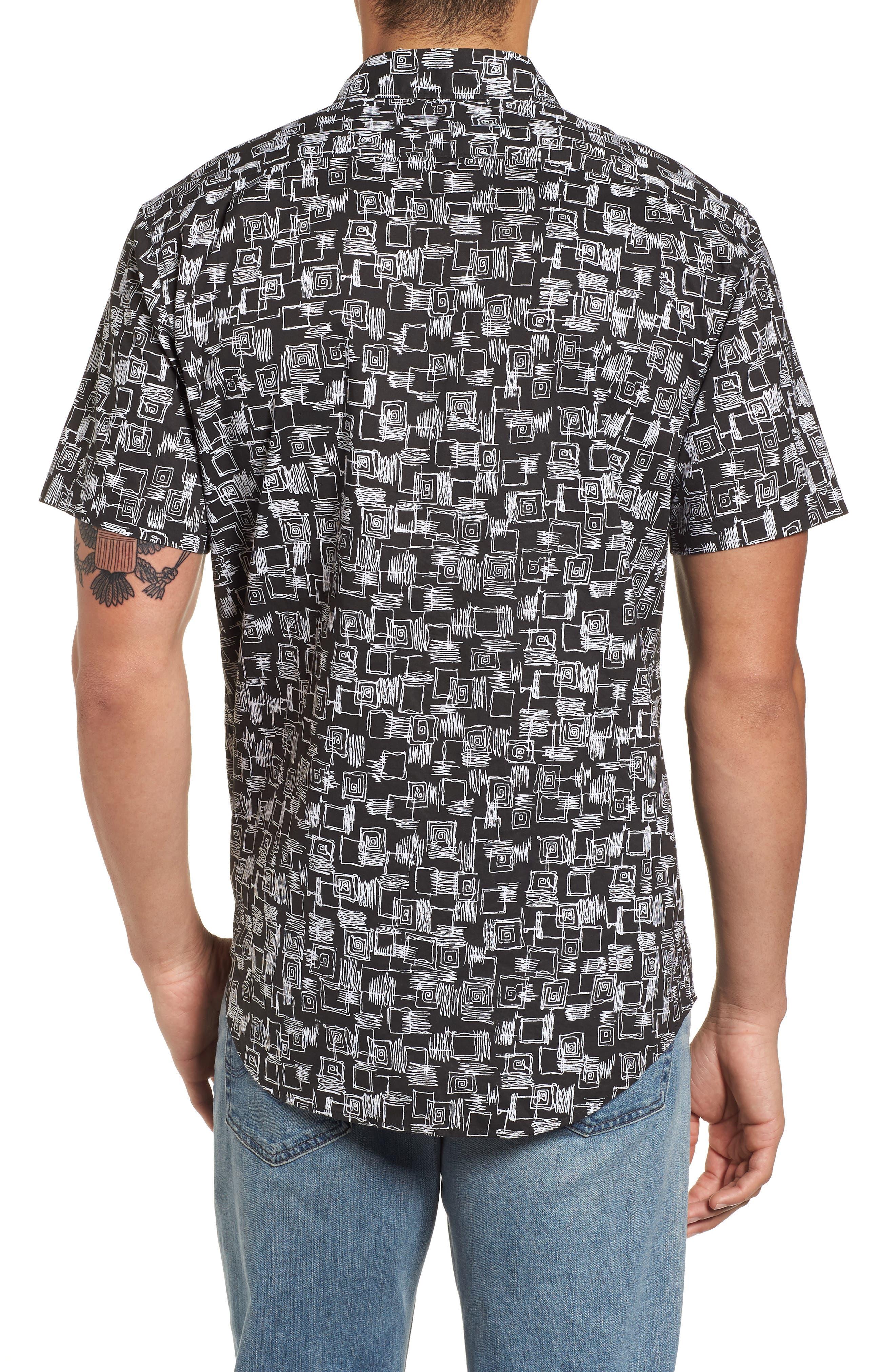 Sundays Mini Short Sleeve Shirt,                             Alternate thumbnail 2, color,                             Black