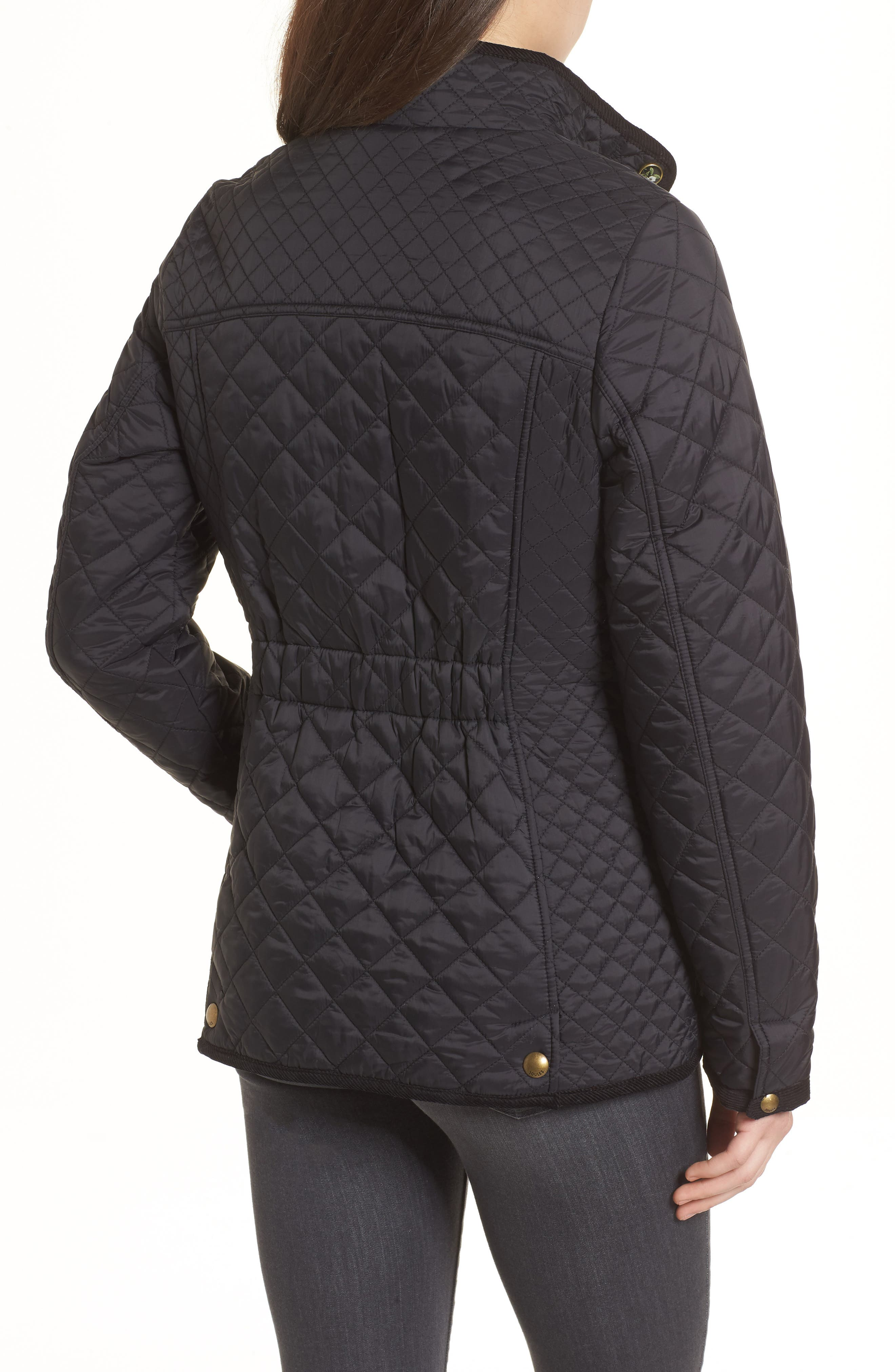 Warm Welcome Quilted Jacket,                             Alternate thumbnail 2, color,                             Black