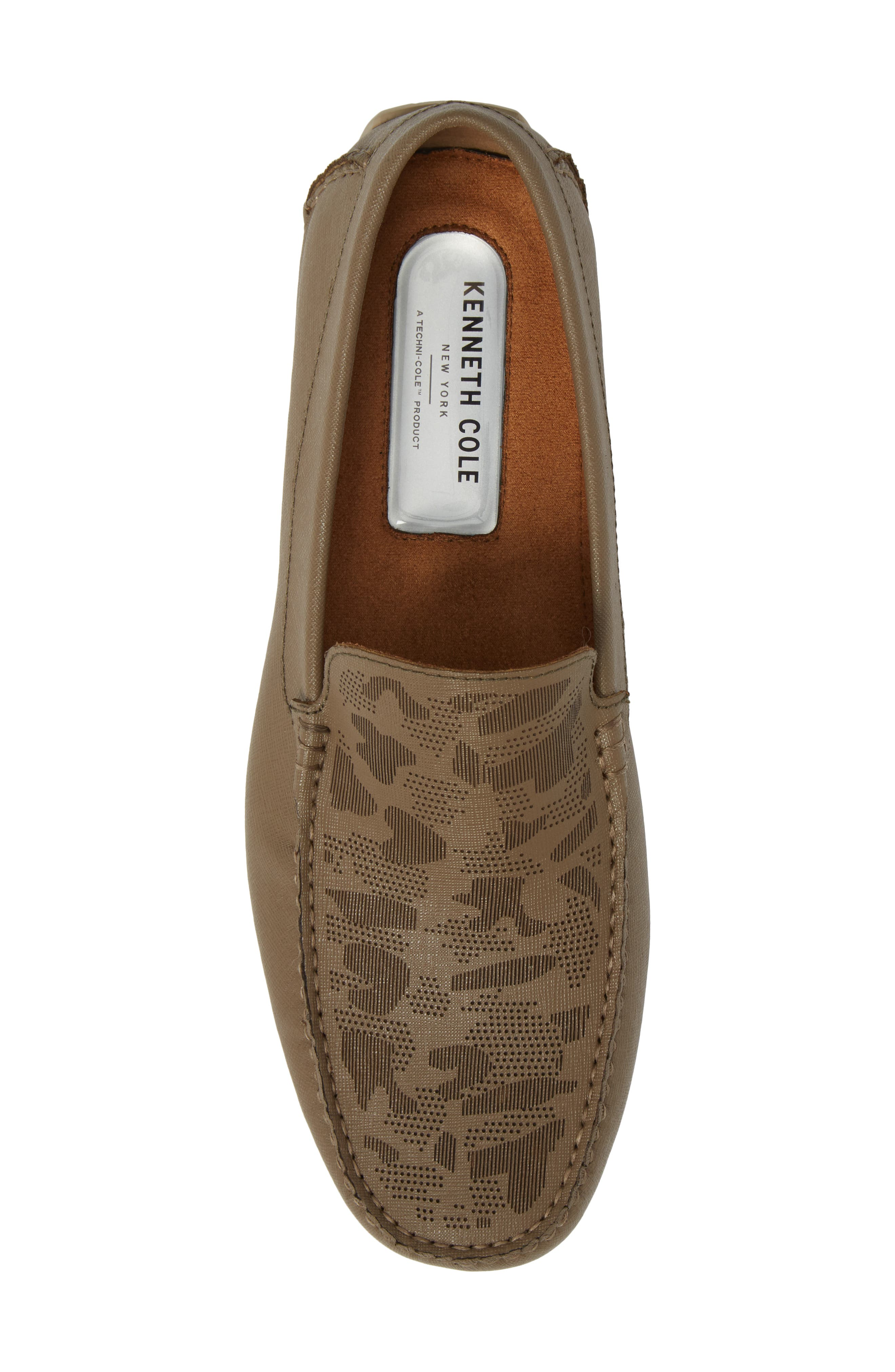 Theme Song Driving Shoe,                             Alternate thumbnail 5, color,                             Taupe Leather
