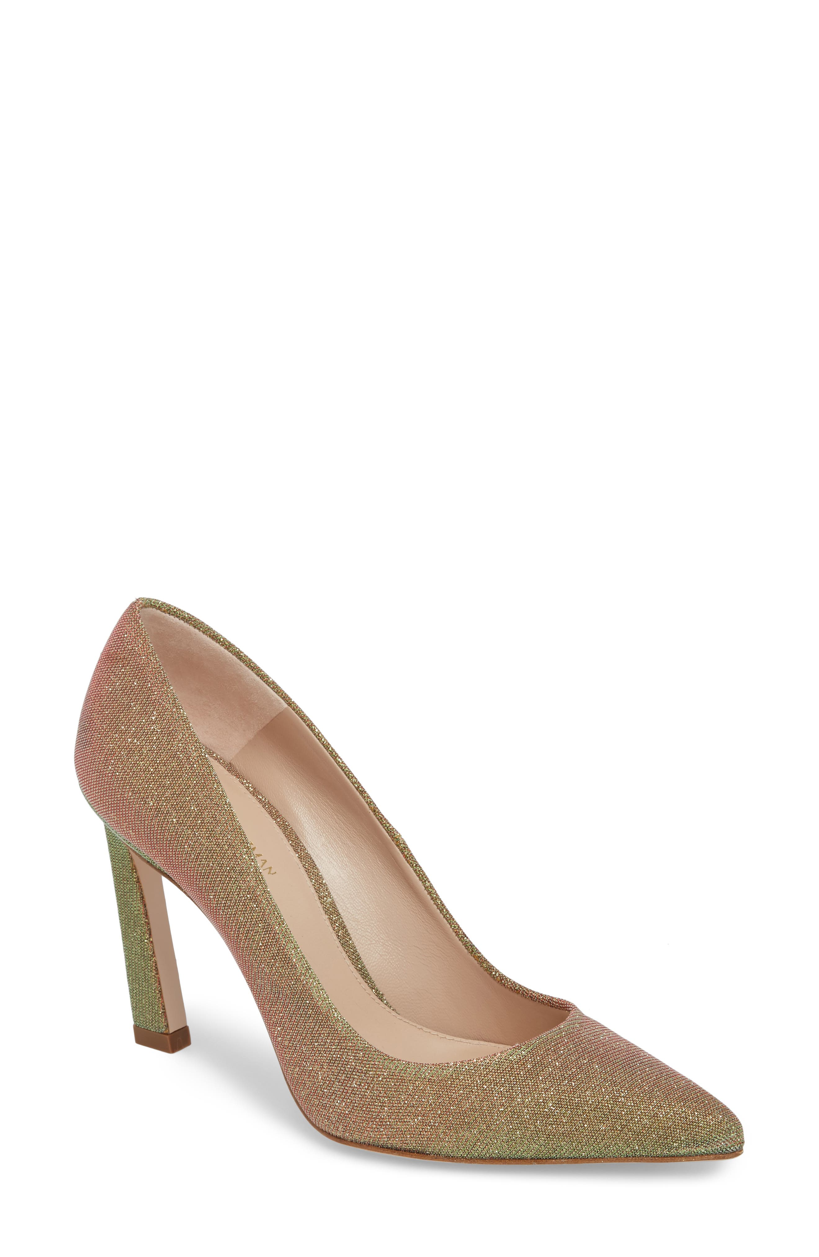 Chicster Pointy Toe Pump,                         Main,                         color, Gold Multi Nighttime