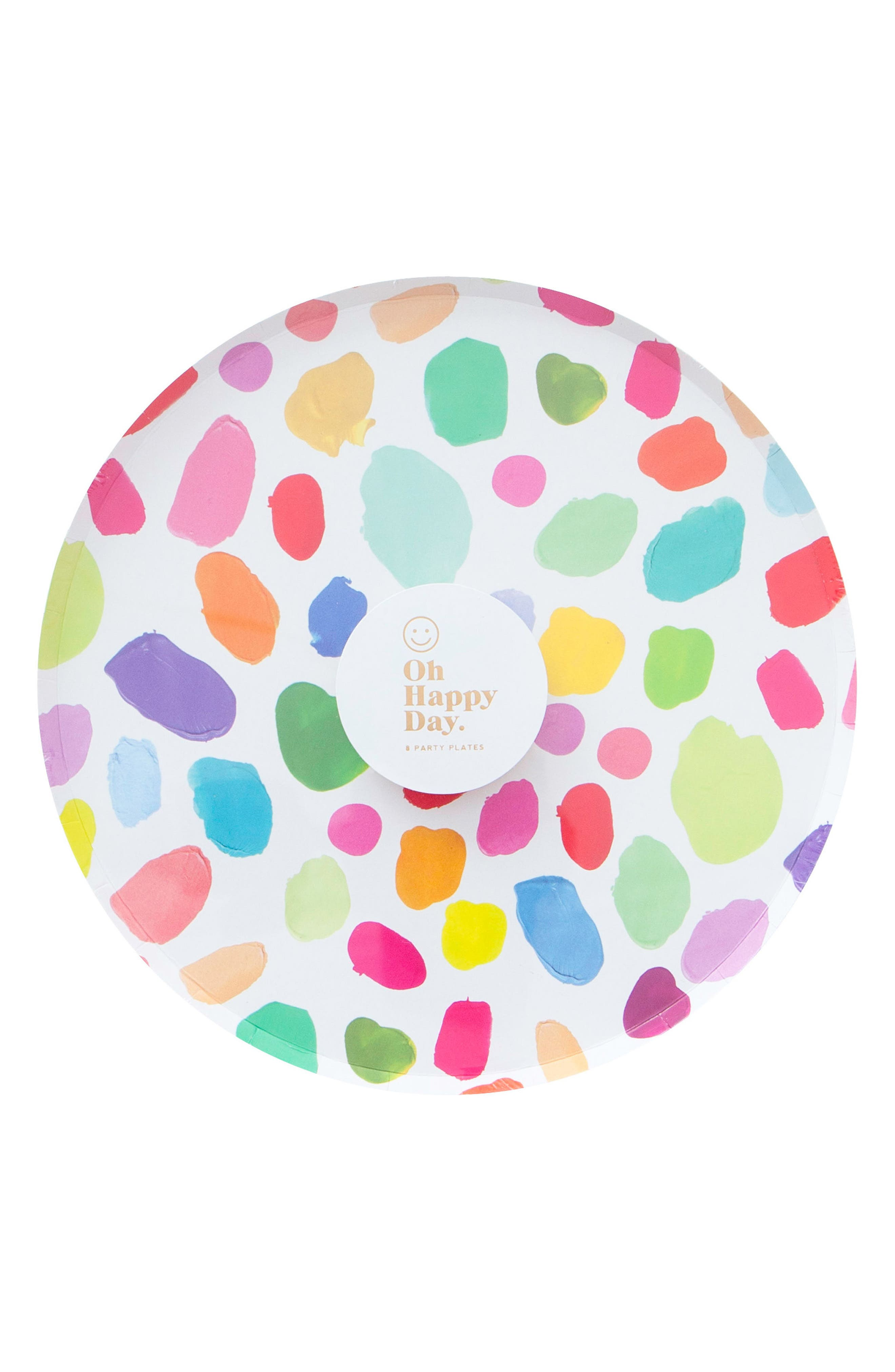 Oh Happy Day Set of 8 Kindah 9-Inch Paper Party Plates