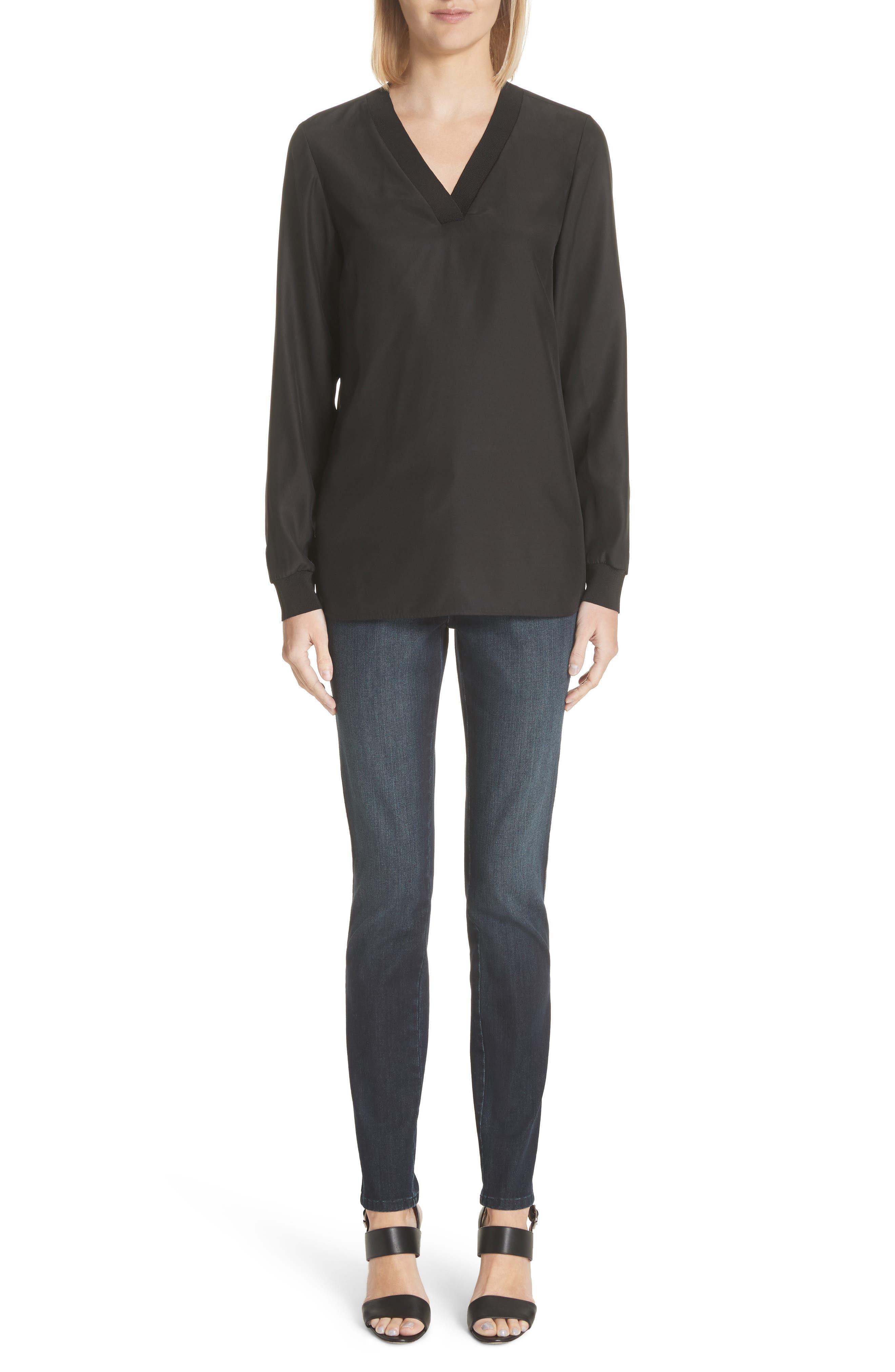 Mercer Skinny Jeans,                             Alternate thumbnail 10, color,                             Indigo
