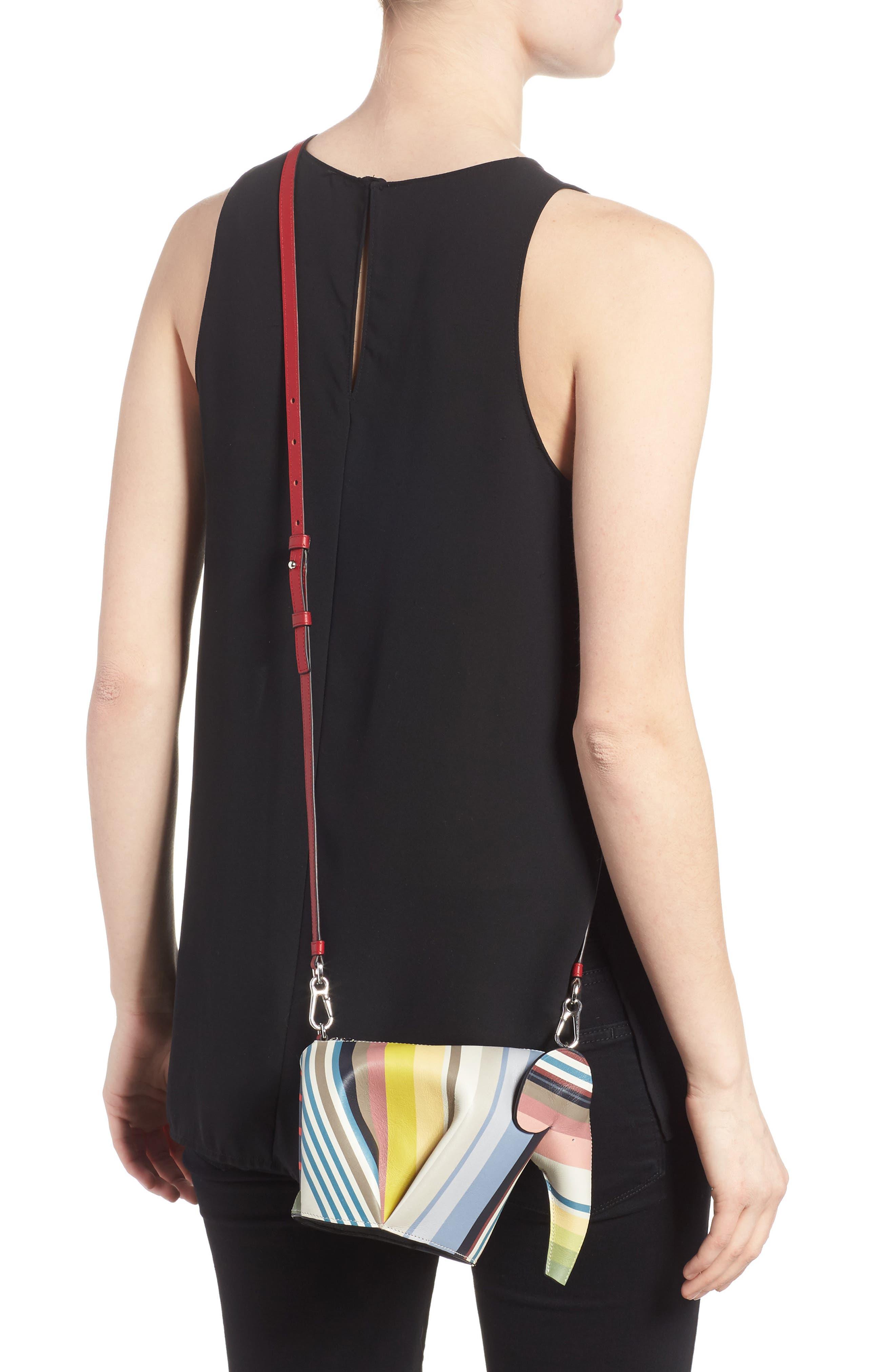 Mini Elephant Calfskin Leather Crossbody Bag,                             Alternate thumbnail 2, color,                             Multicolour