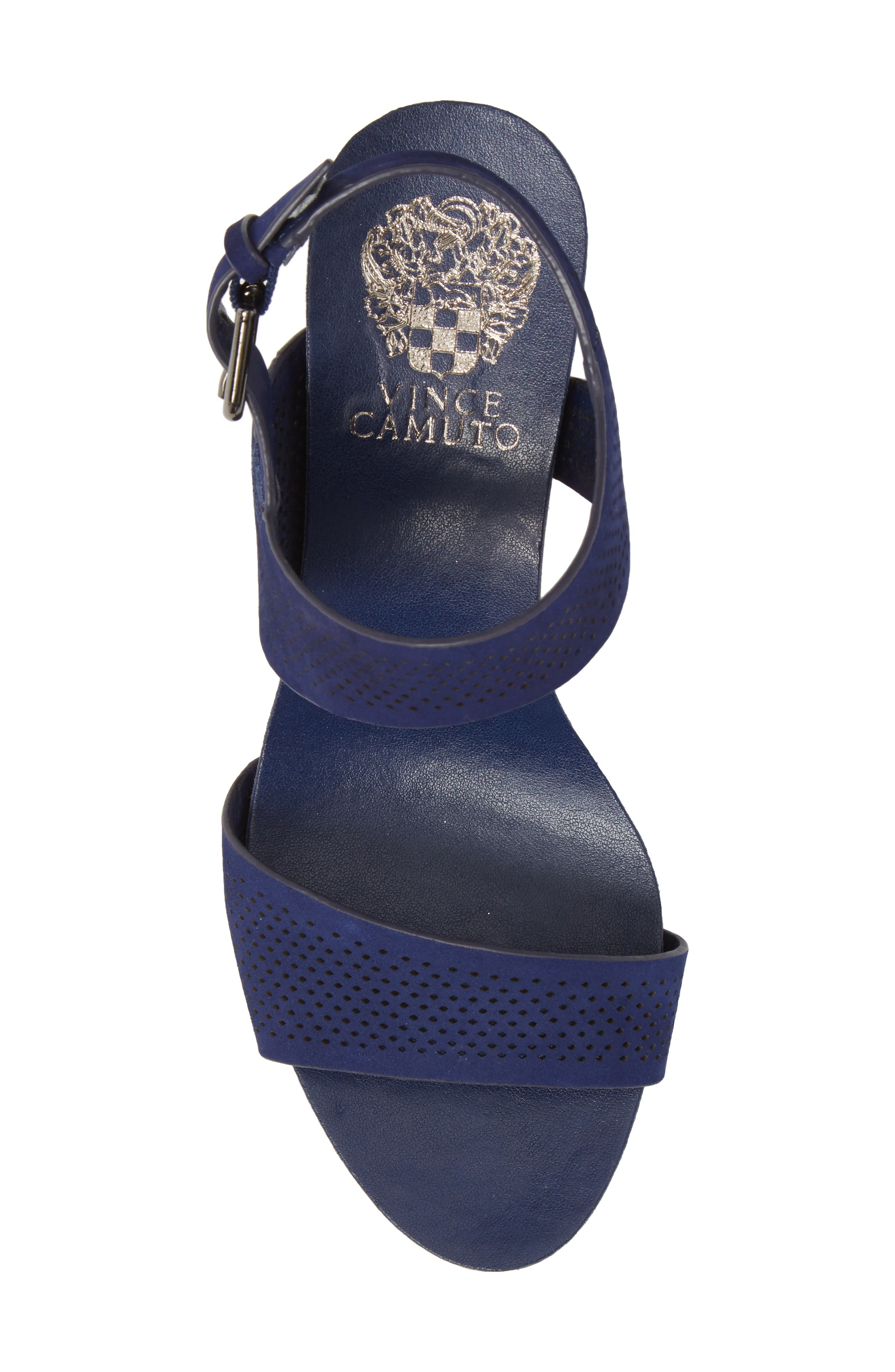 Vessinta Platform Wedge,                             Alternate thumbnail 5, color,                             Moody Blue Leather