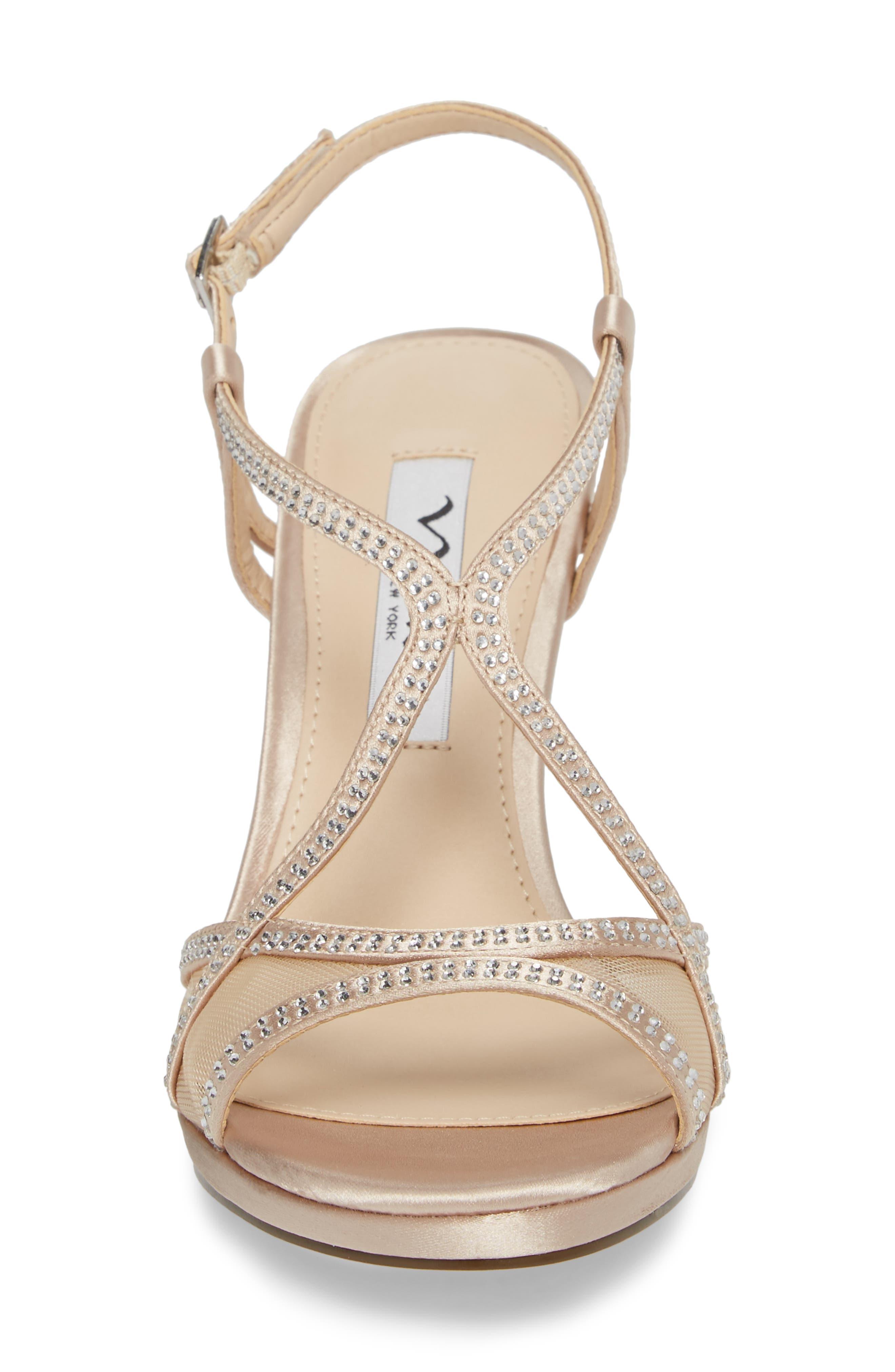 Alternate Image 4  - Nina Blossom Crystal Embellished Sandal (Women)