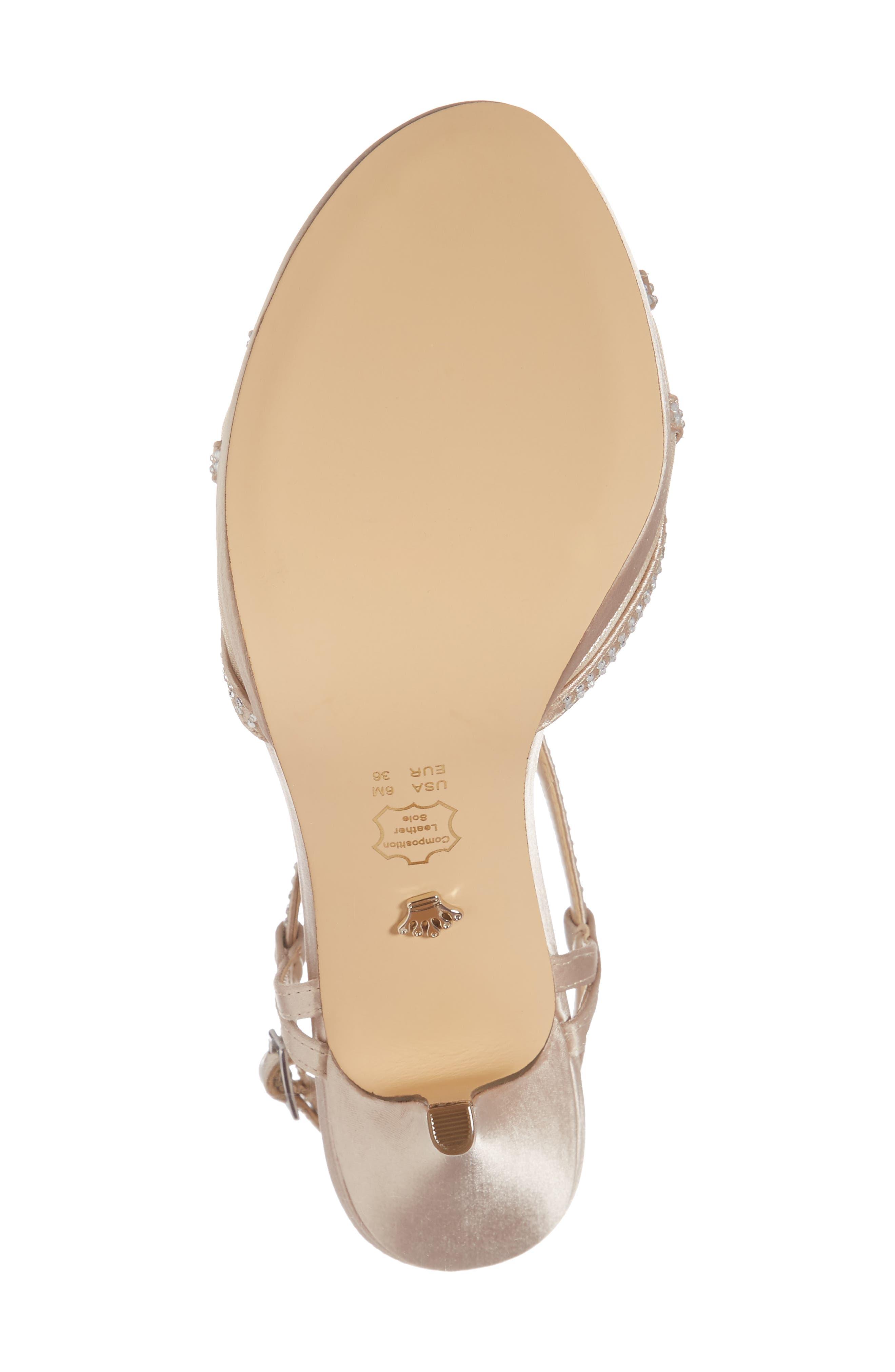 Alternate Image 6  - Nina Blossom Crystal Embellished Sandal (Women)