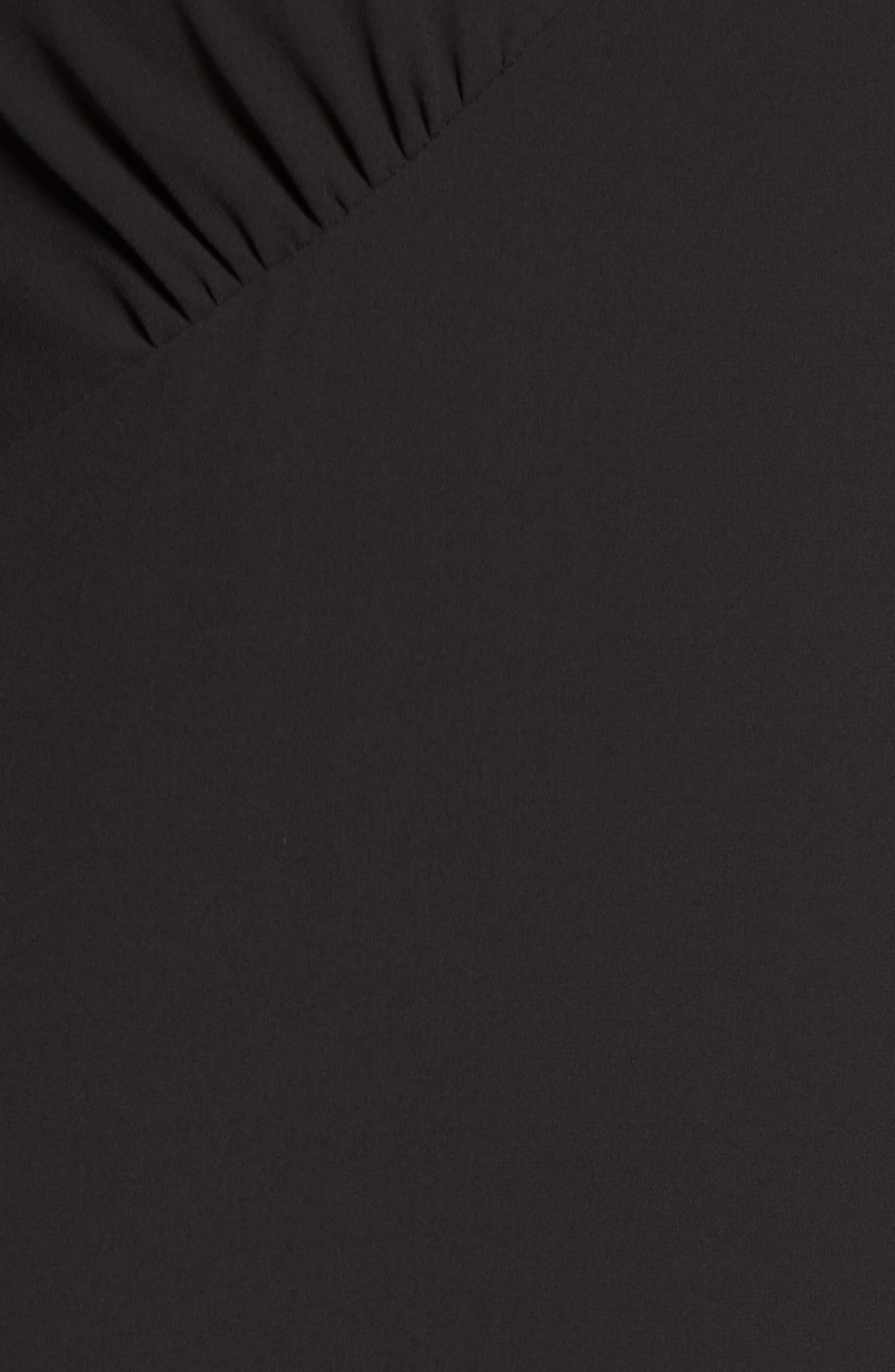 Daikon Cold Shoulder Dress,                             Alternate thumbnail 5, color,                             Black