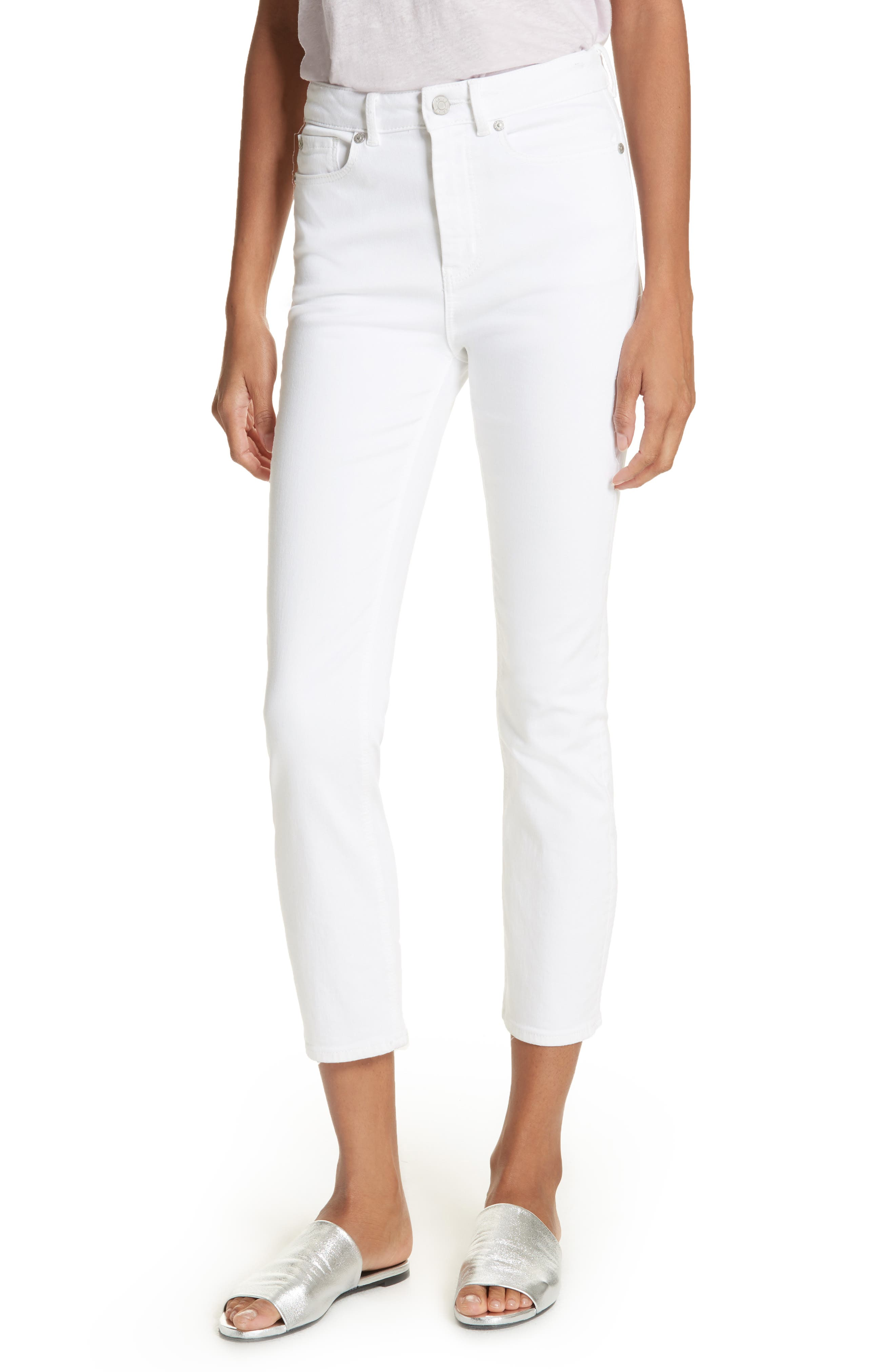 Clemence Crop Jeans,                         Main,                         color, Milk