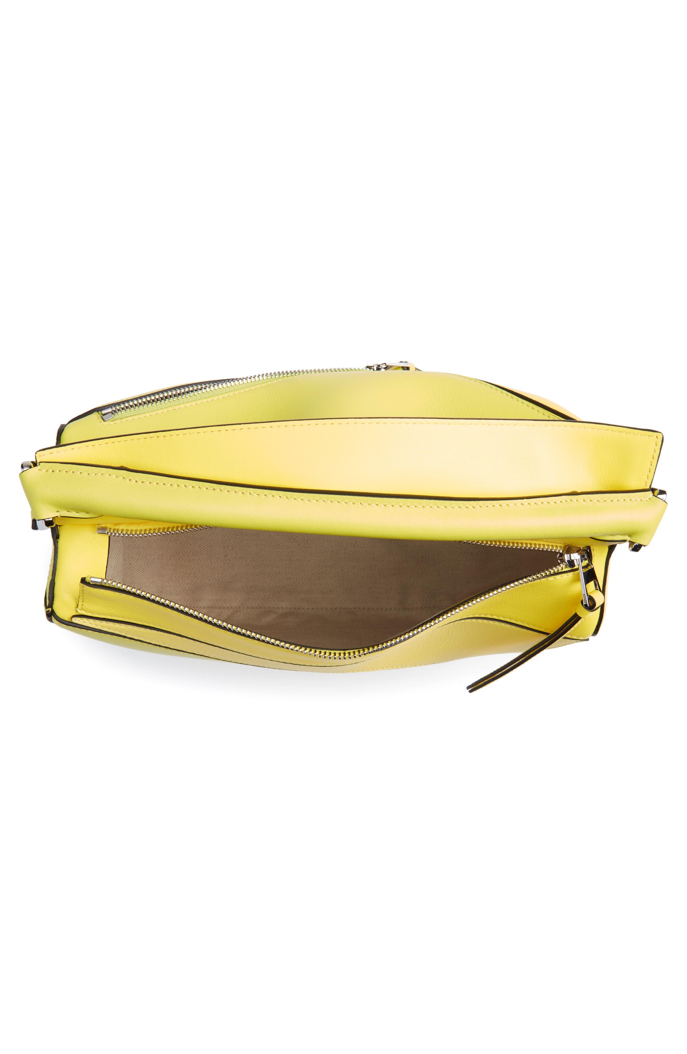 Medium Puzzle Calfskin Leather Shoulder Bag,                             Alternate thumbnail 5, color,                             Yellow Multitone