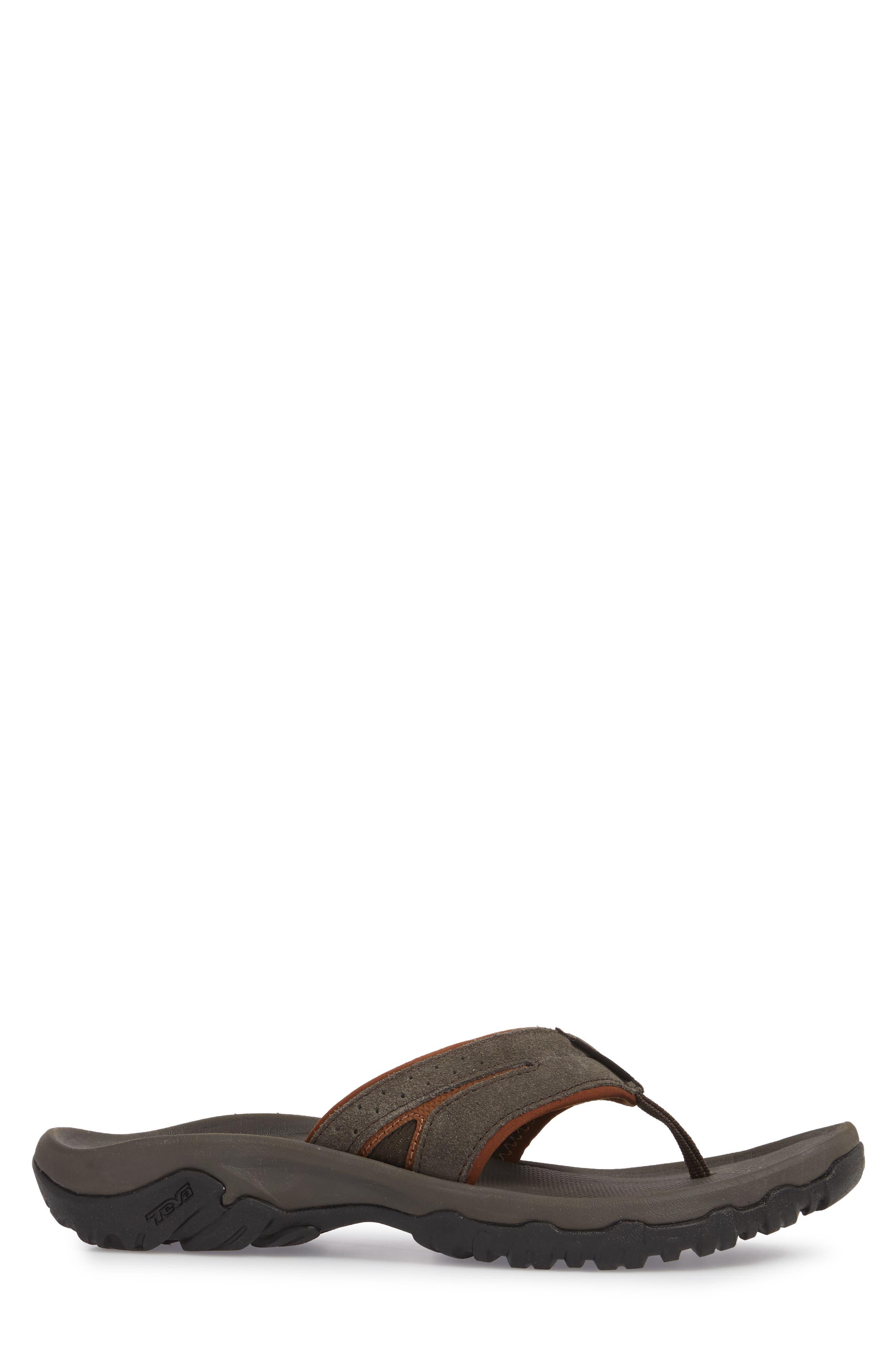 Katavi 2 Flip Flop,                             Alternate thumbnail 3, color,                             Black/ Olive Suede